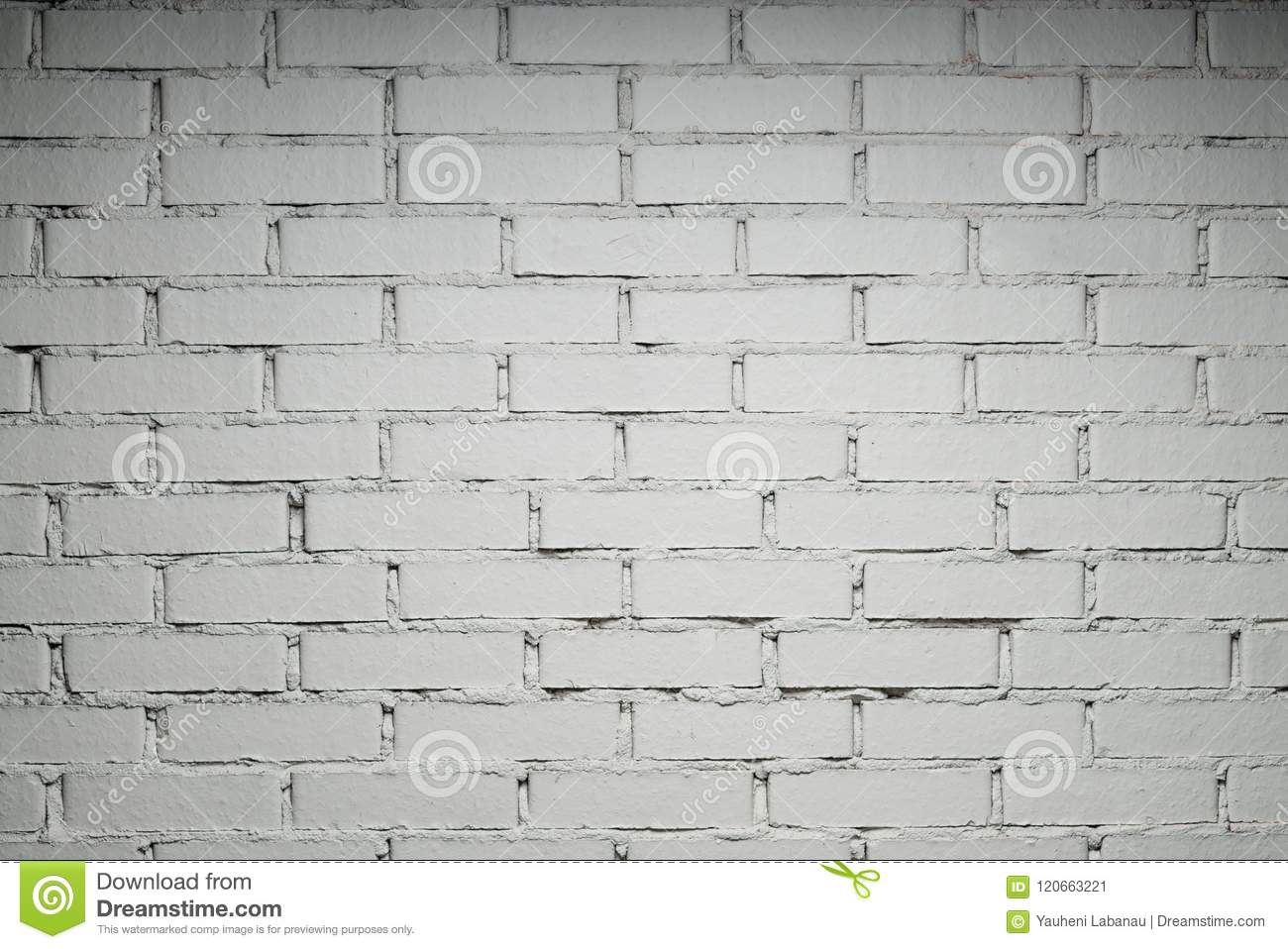 White brick wall with copy space