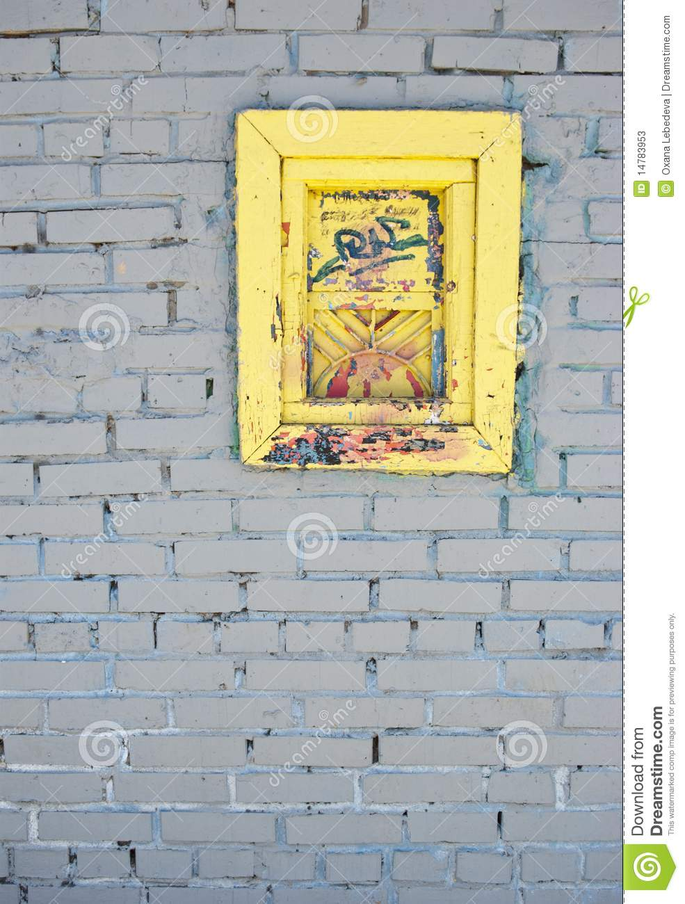 White Brick Wall With Old Window Stock Image - Image of architecture ...