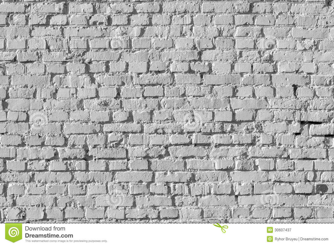 White Brick Wall Pattern Royalty Free Stock Photography