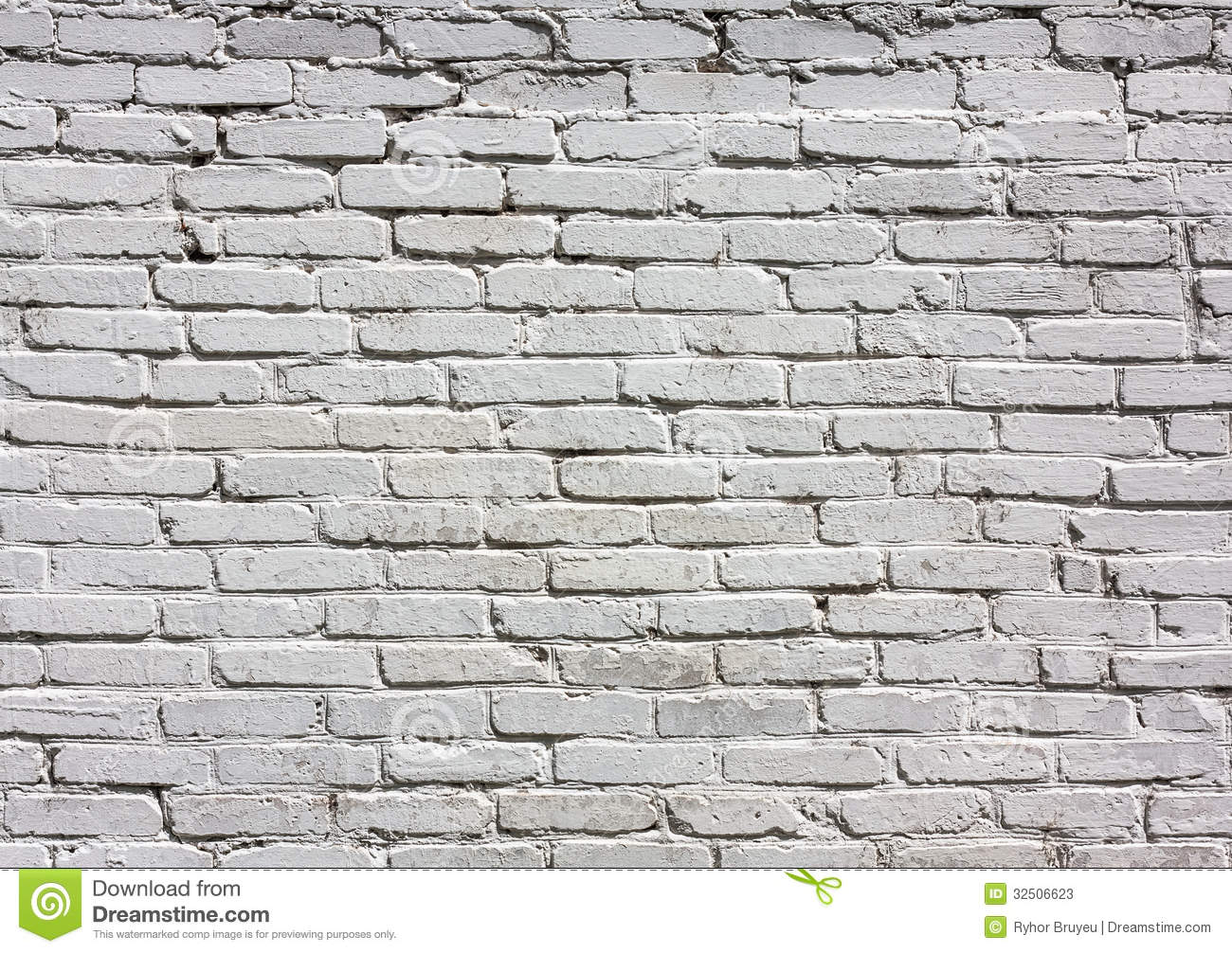 White Brick Wall Pattern Stock Photos Image 32506623
