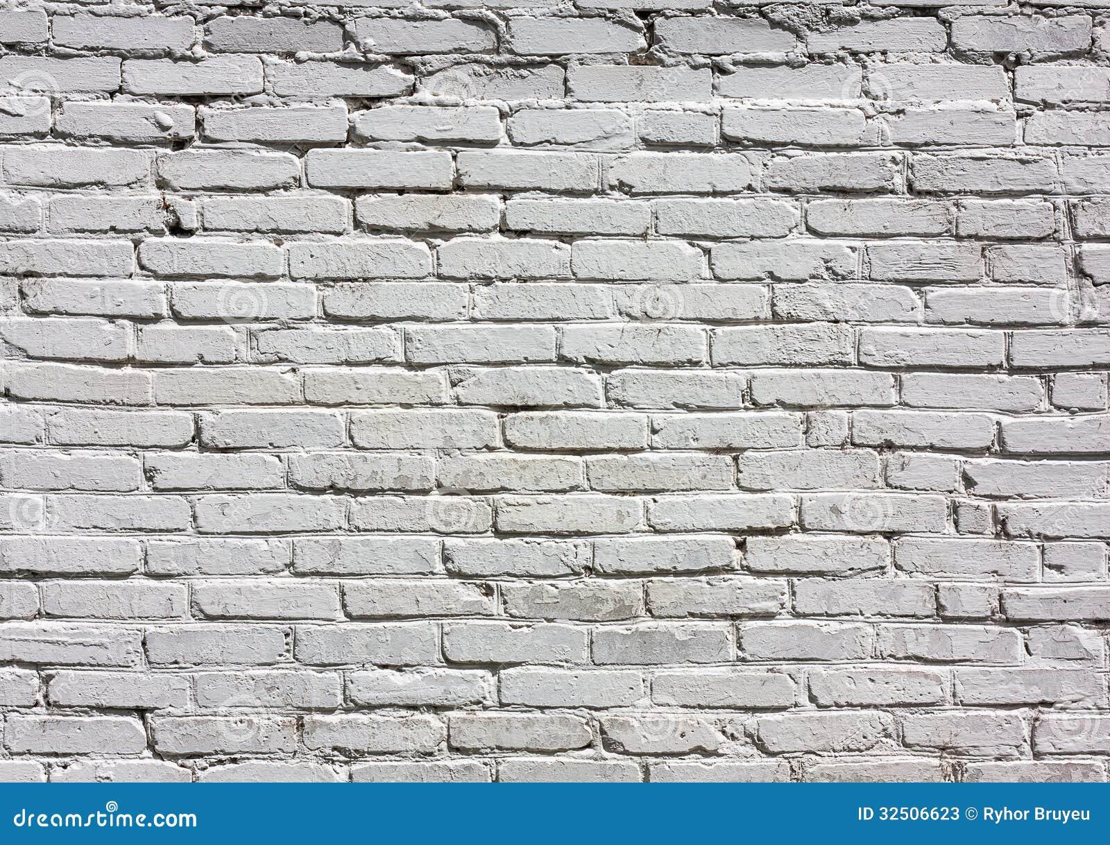White Brick Wall Pattern Stock Photos Image 32506623