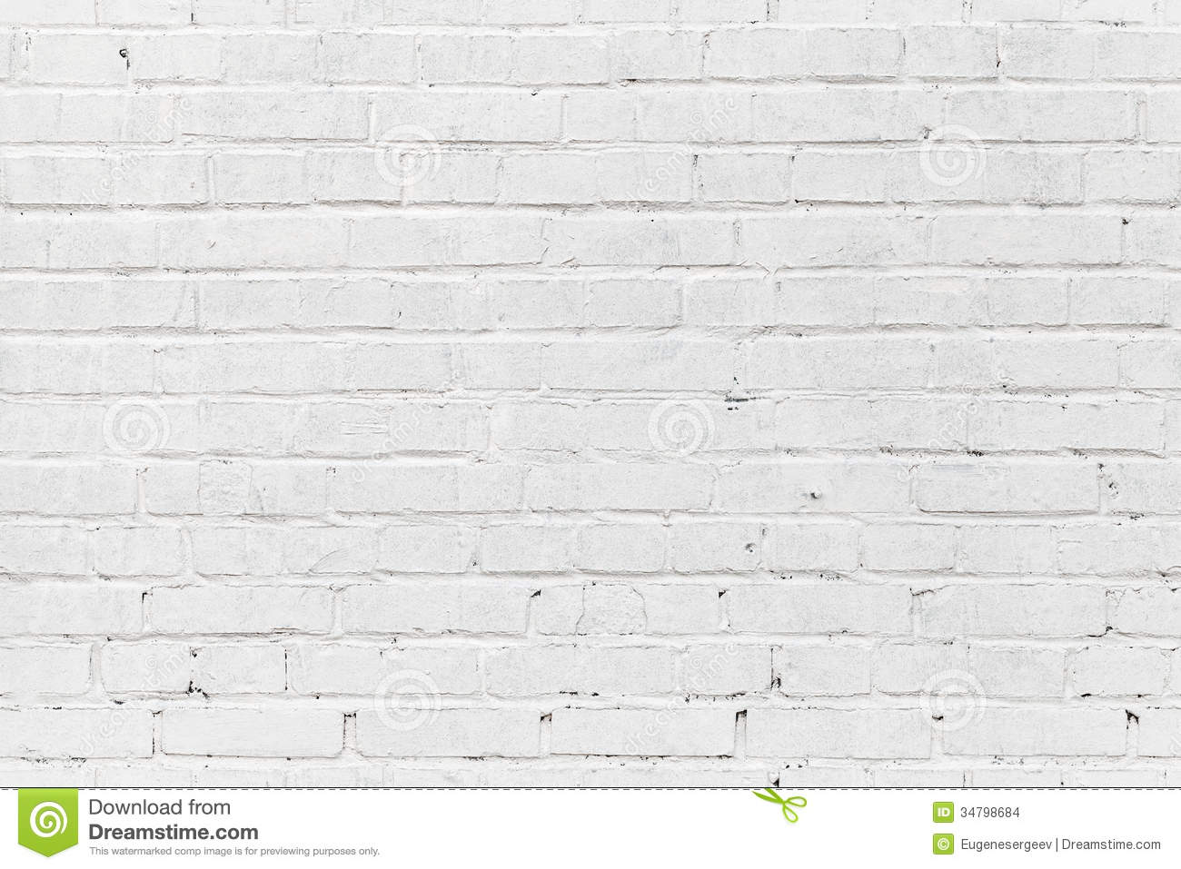 White Brick Wall Seamless Photo Texture