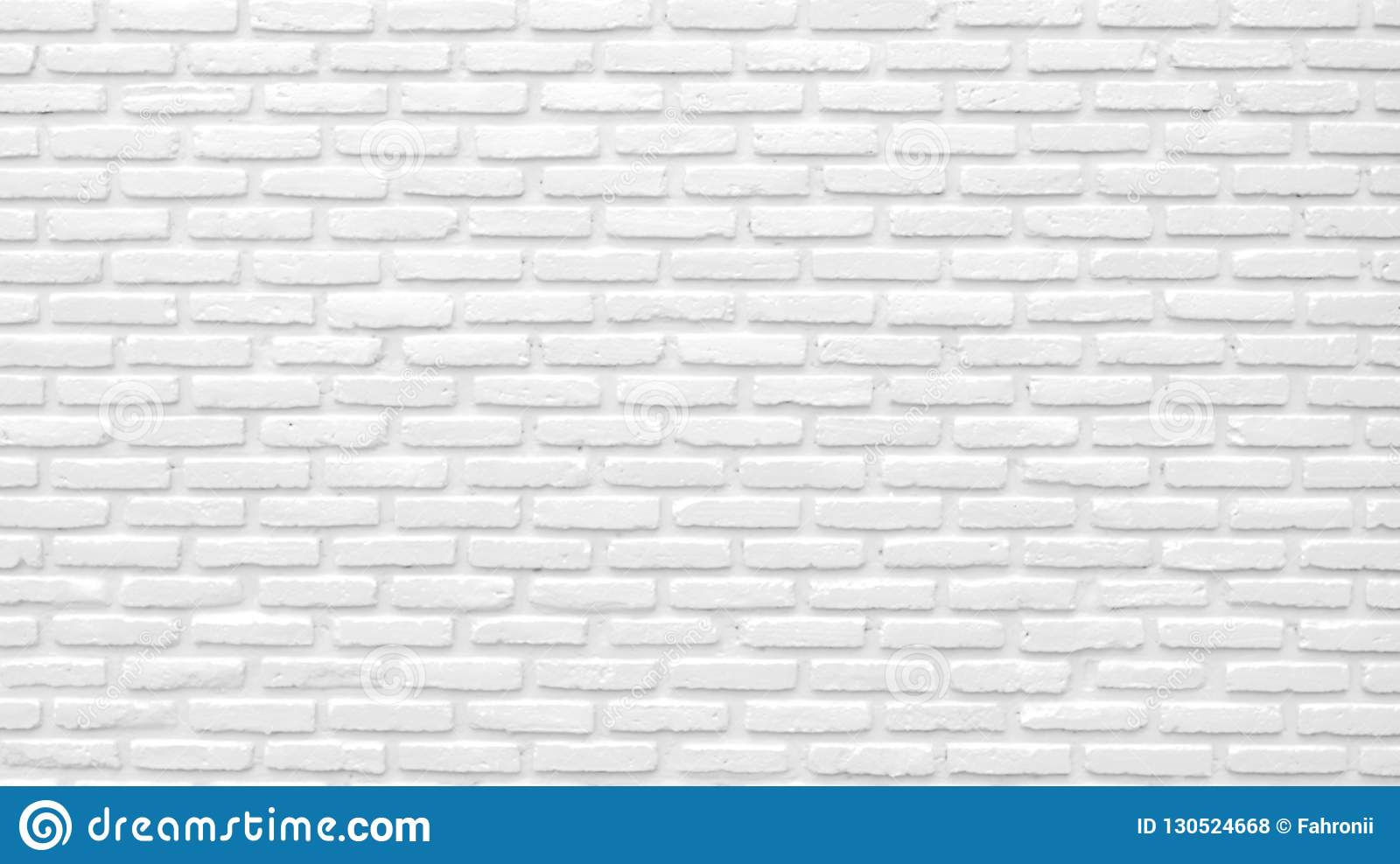 White Brick Wall Texture Background With Space For Text White