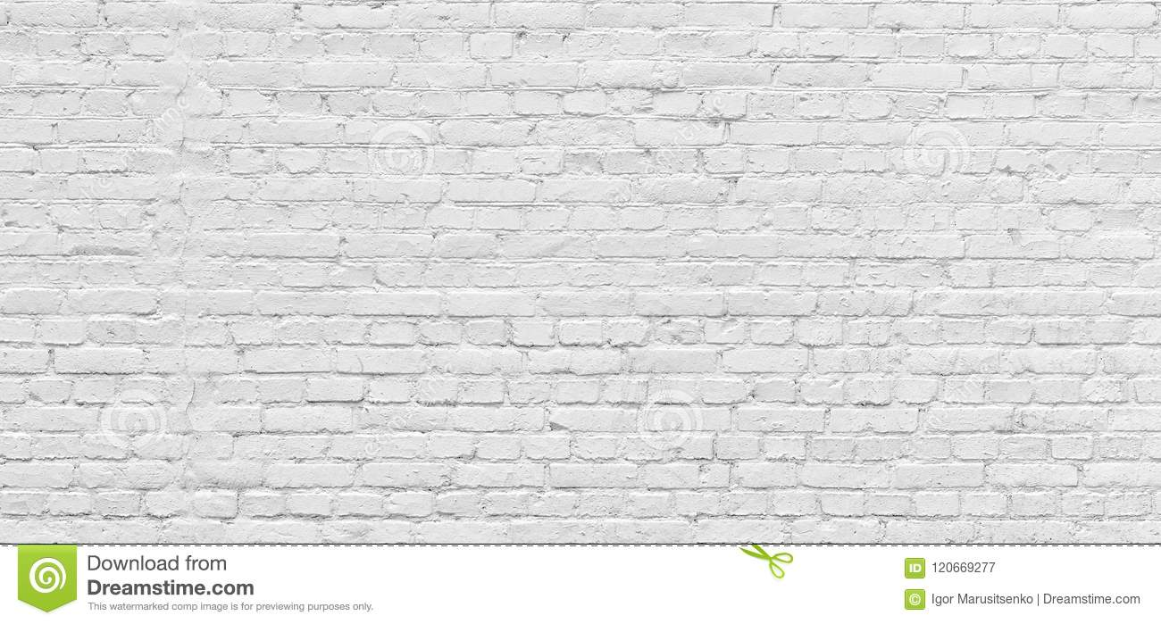 White Brick Wall Urban Background In High Resolution Stock Image