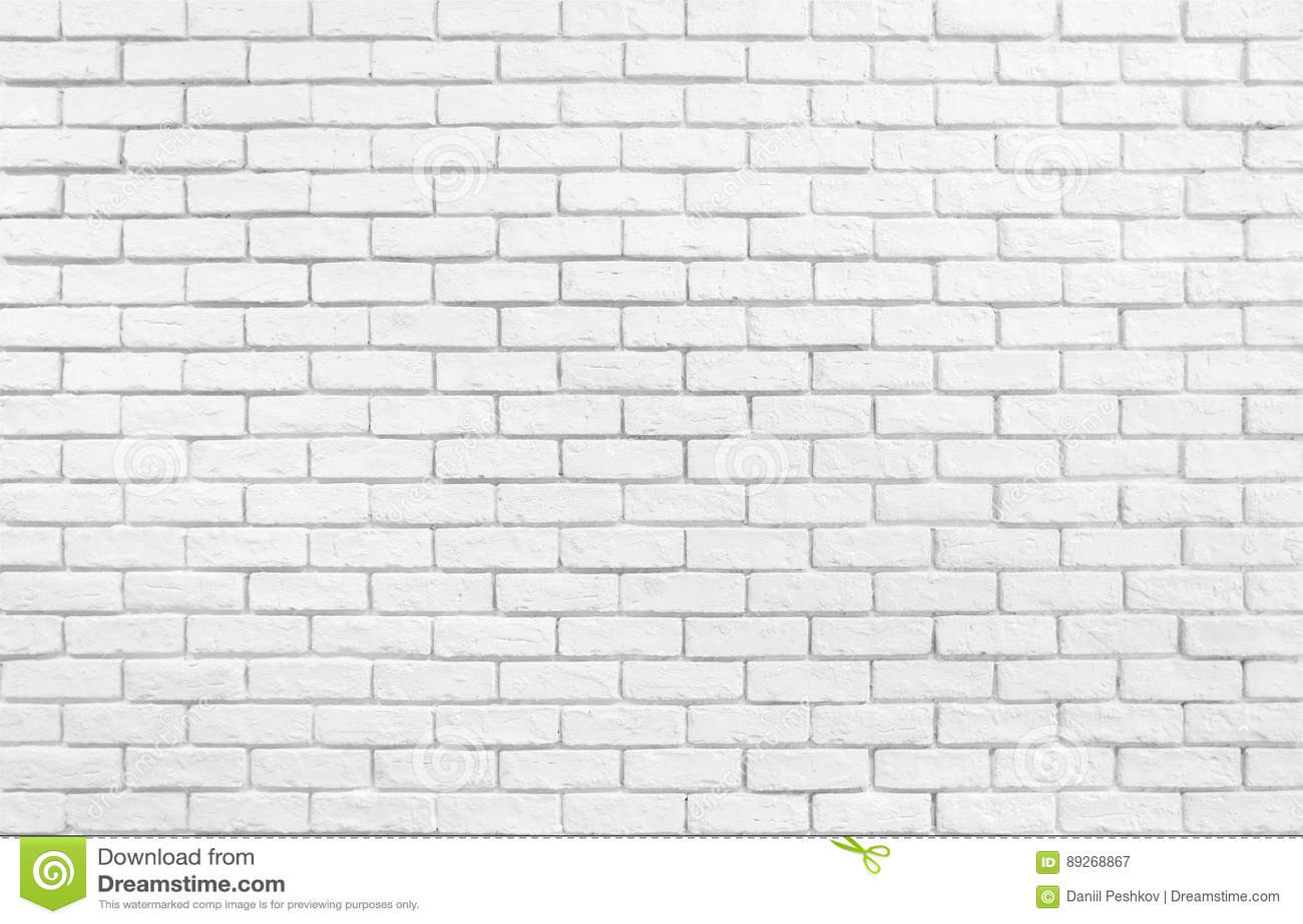 White Brick Wall Wallpaper Stock Illustration Illustration