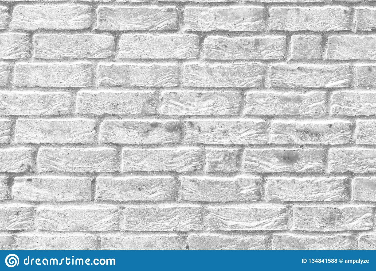 White Bricks Stone Mortar Stucco Wall Background Backdrop Surface