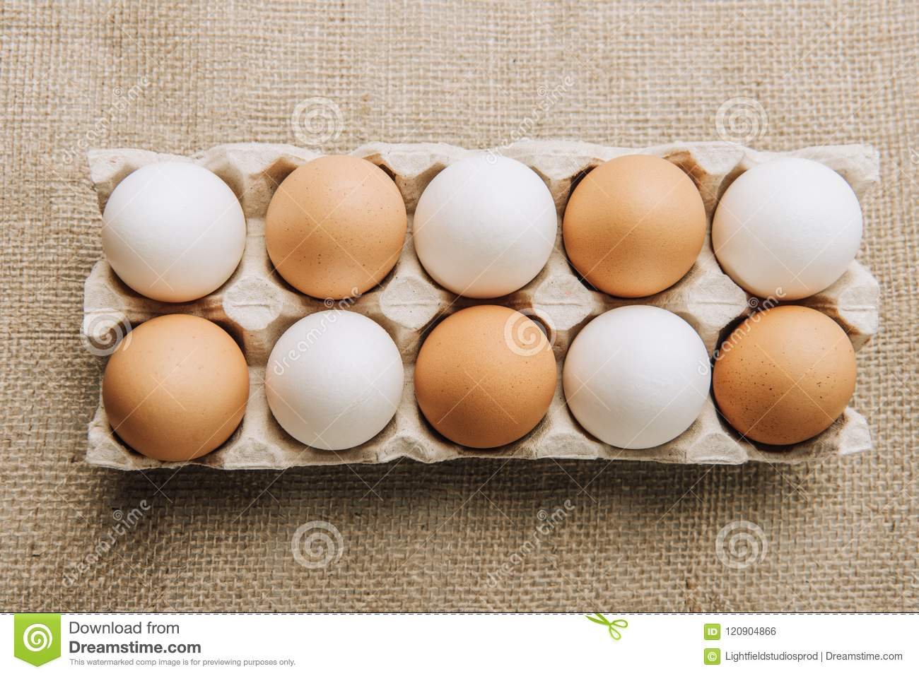 Download White And Brown Eggs Laying In