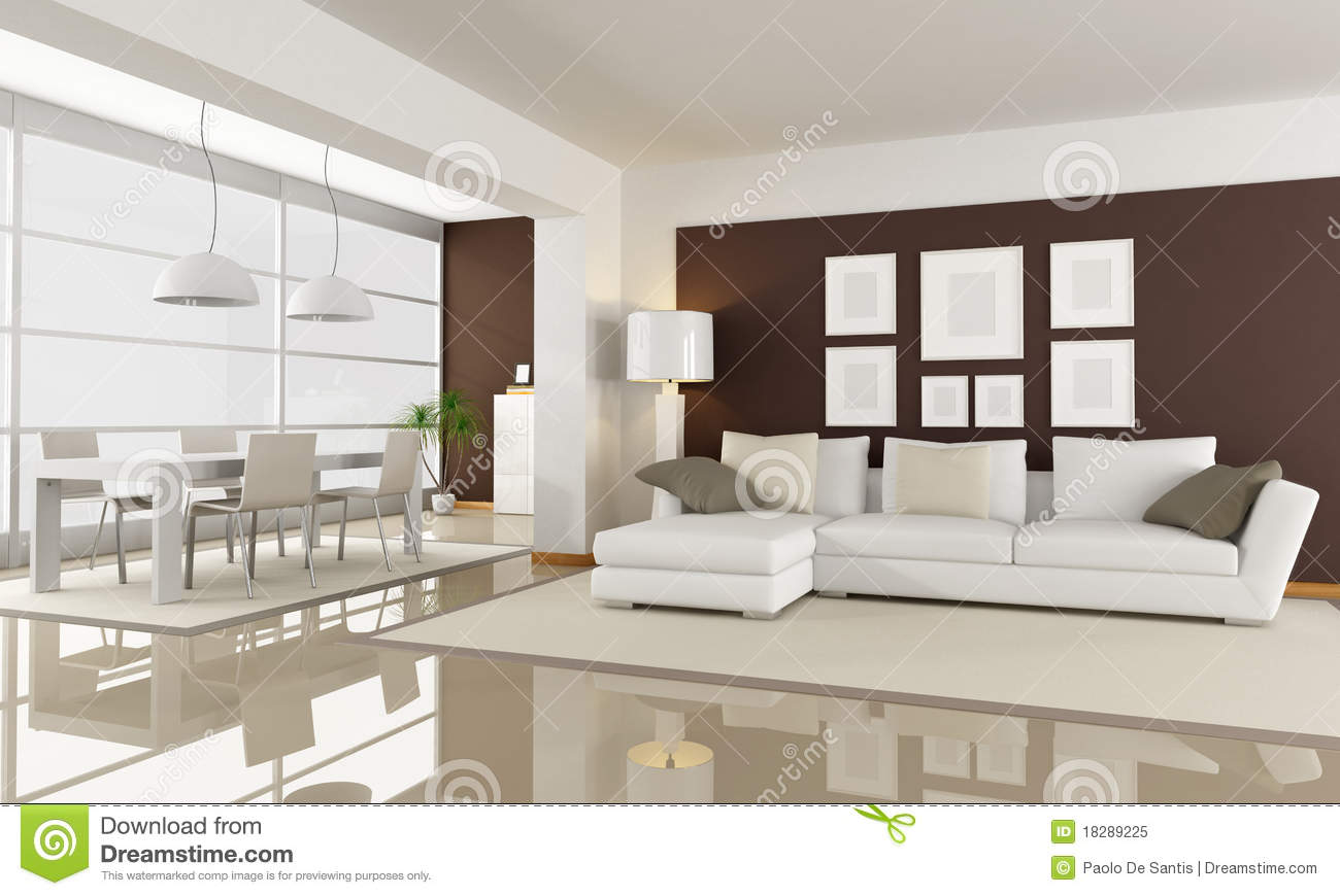 White And Brown Living Room white and brown living room royalty free stock photo - image: 18289225