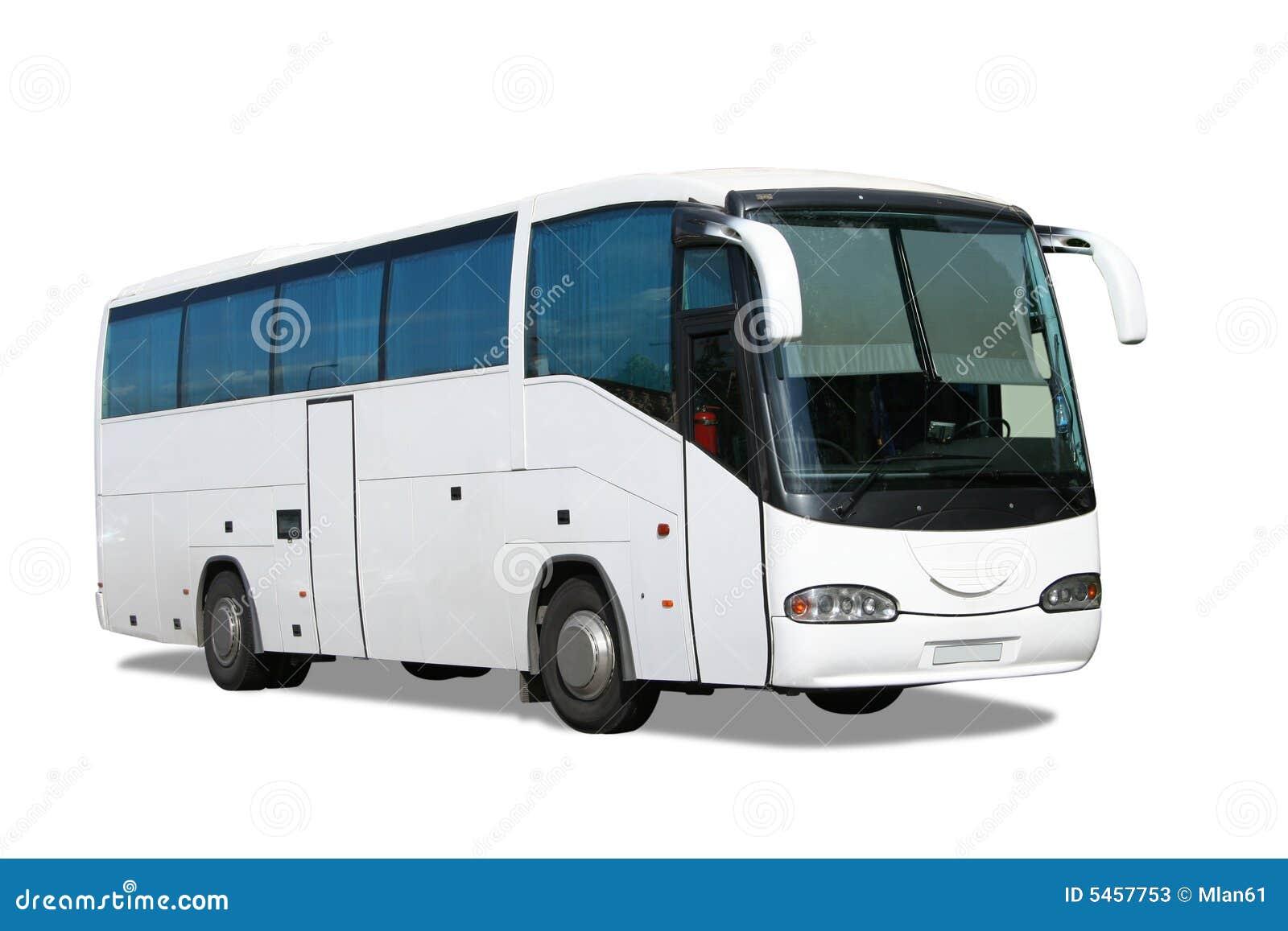 White Bus Stock Photos Image 5457753