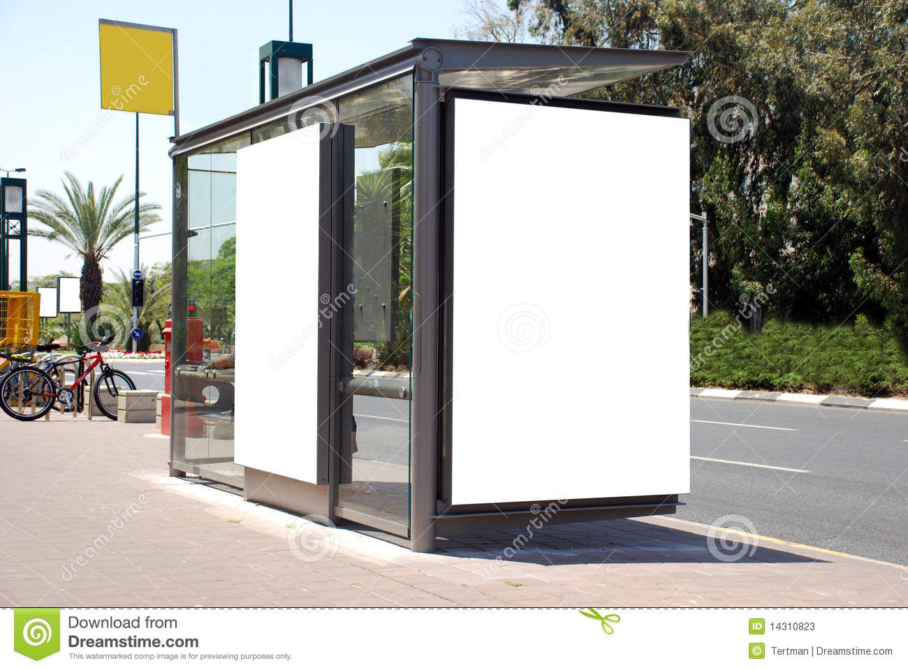 white bus stop sign stock image image of customizable 14310823