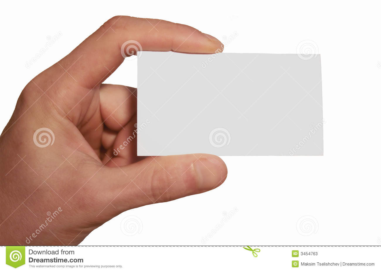 White business card in hand stock image image 3454763 white business card in hand magicingreecefo Choice Image