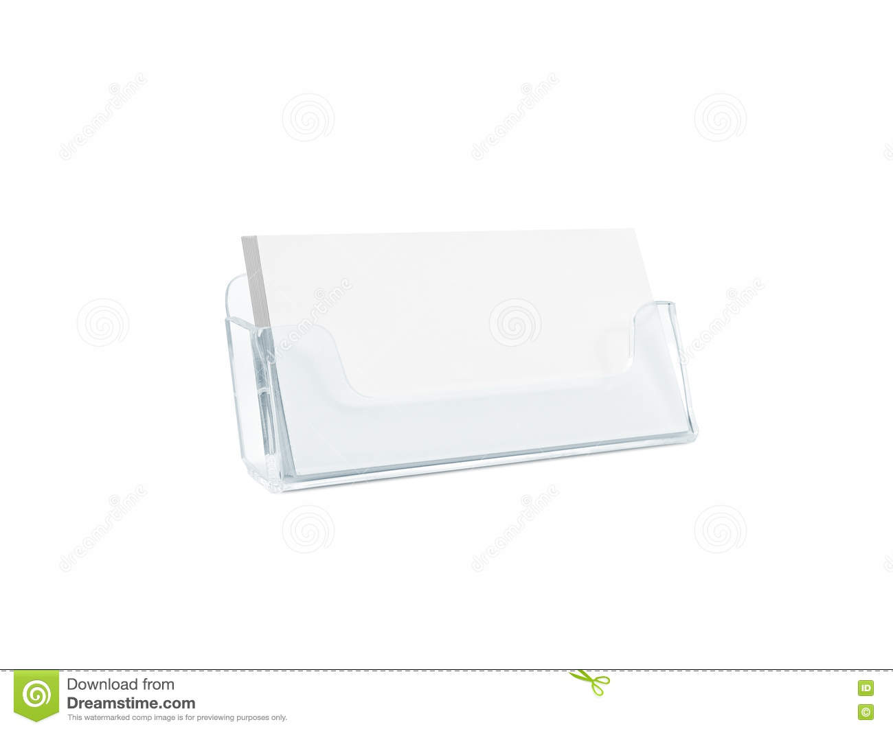 White Business Card Mockup Holder Isolated. Stock Photo - Image of ...