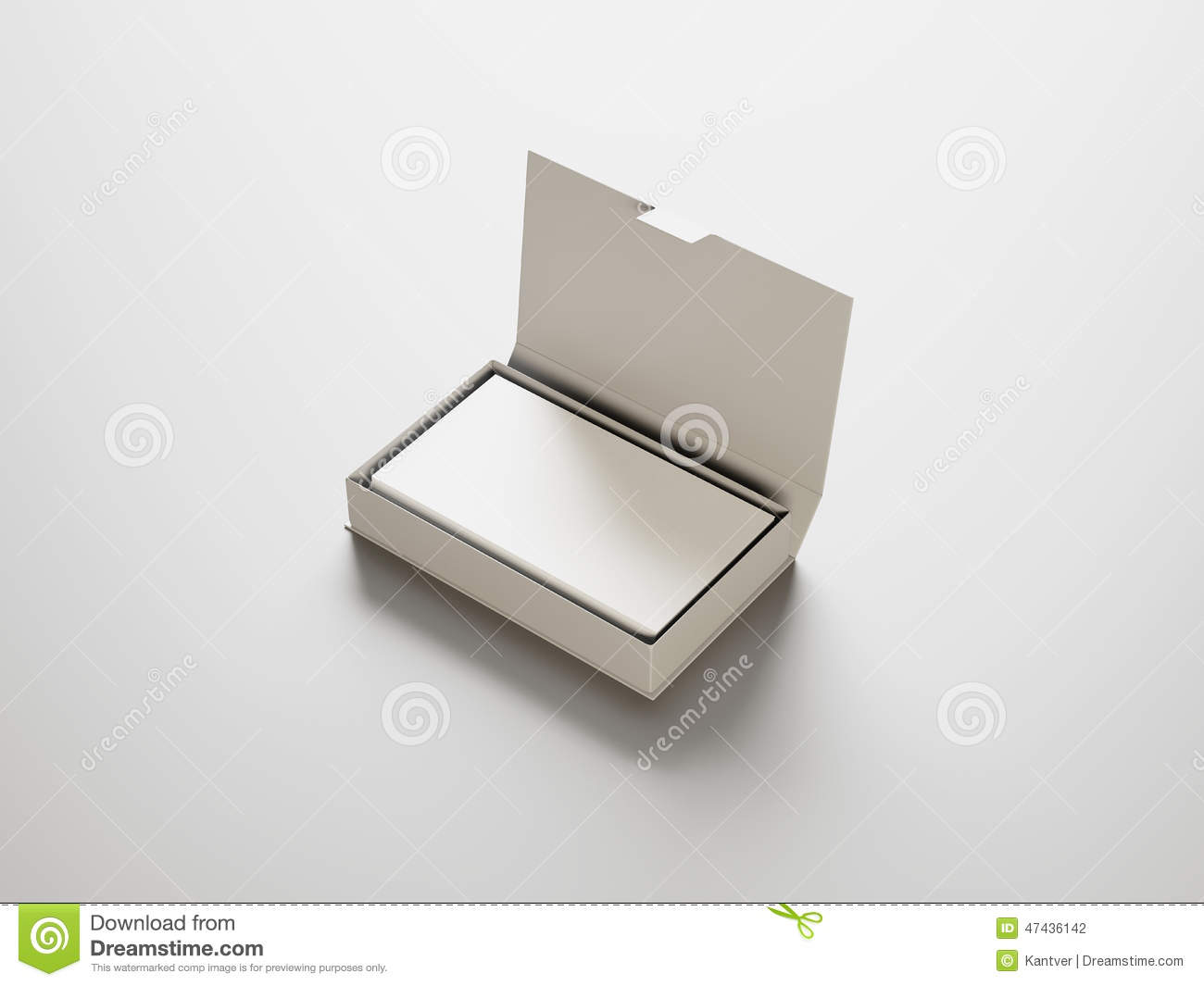 White Business Cards In The White Box Stock Photo - Image of paper ...