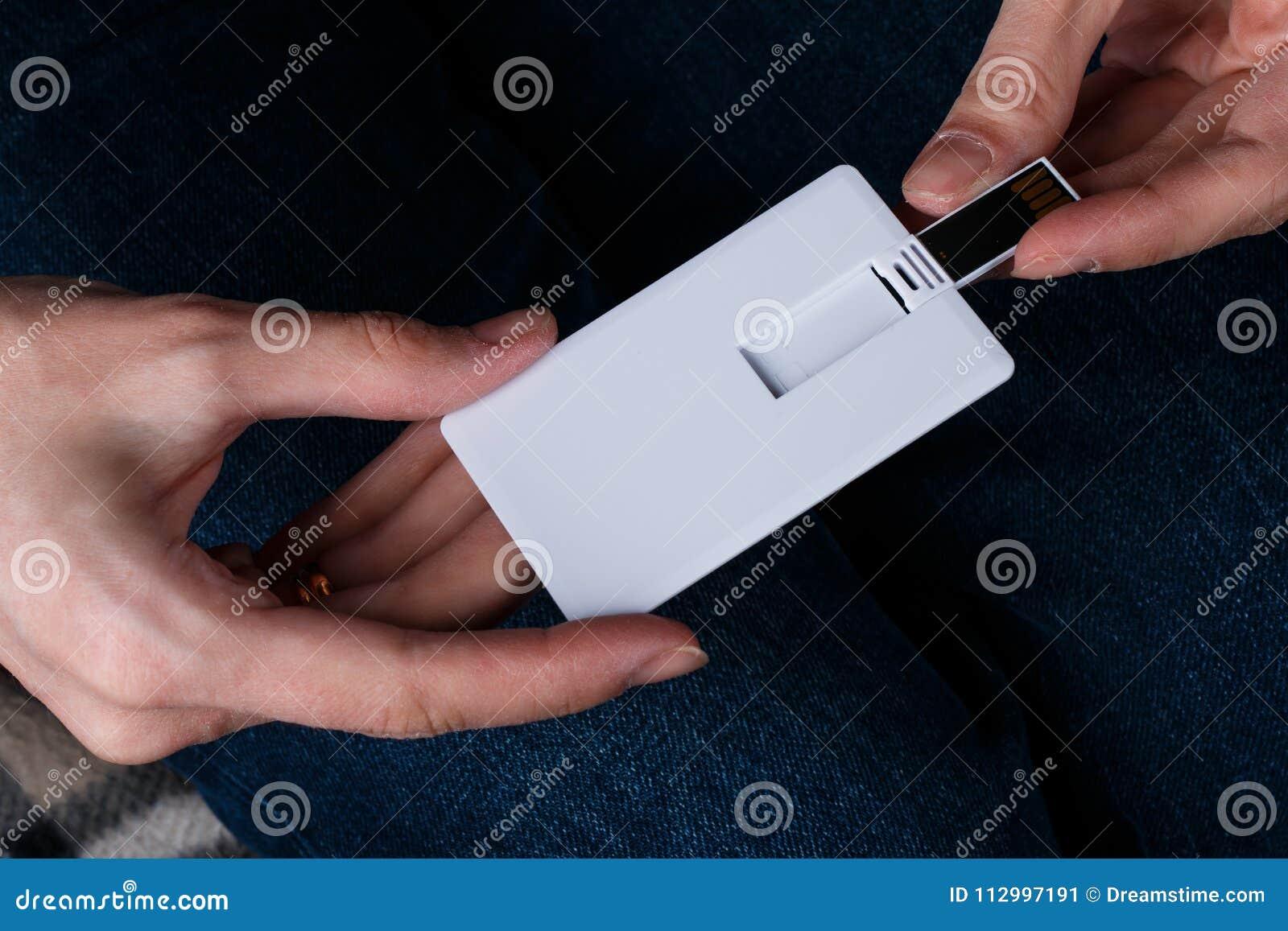 white bussines card name card usb flash memory card