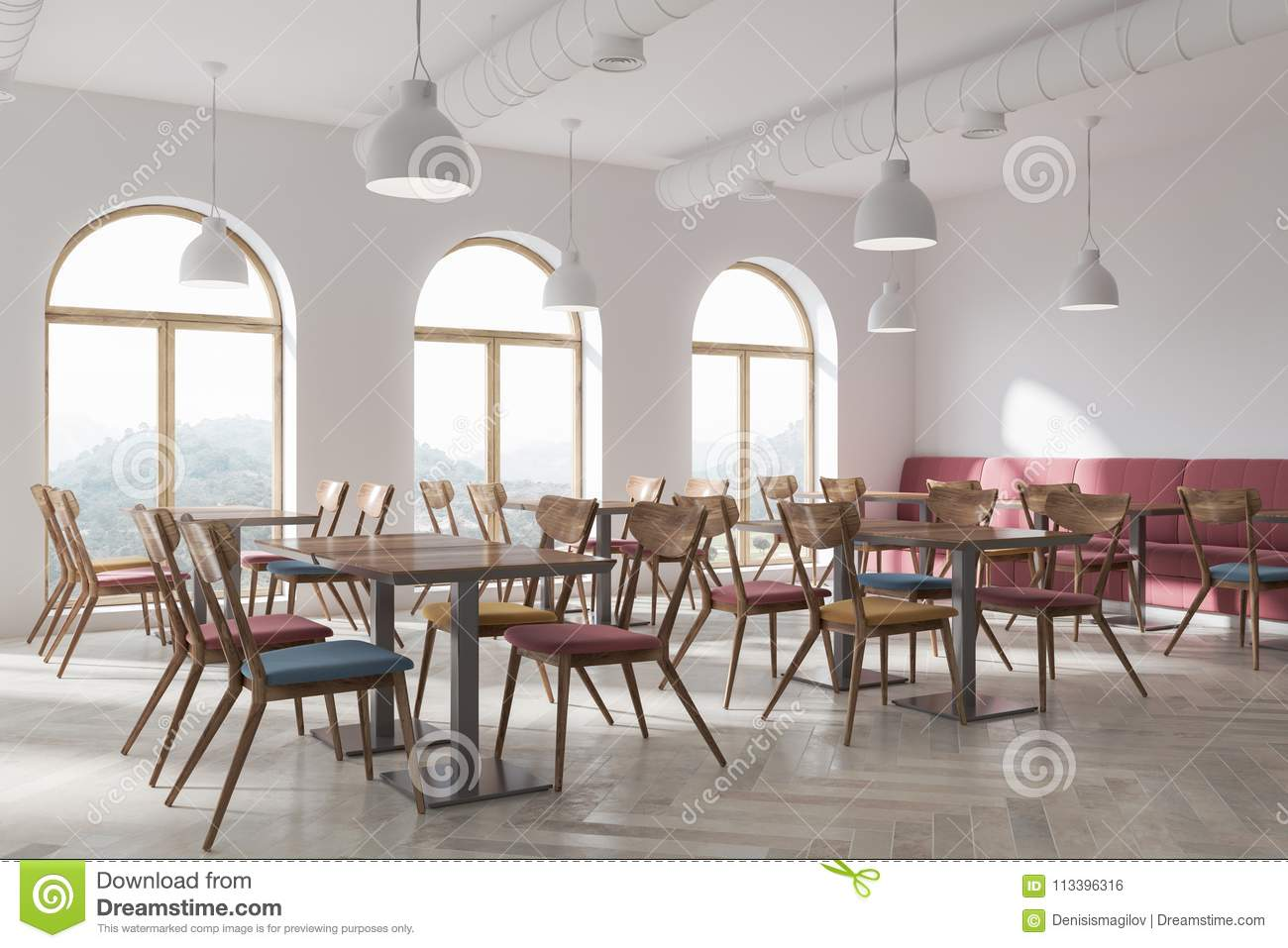 Groovy White Cafe Corner Stock Illustration Illustration Of Modern Alphanode Cool Chair Designs And Ideas Alphanodeonline
