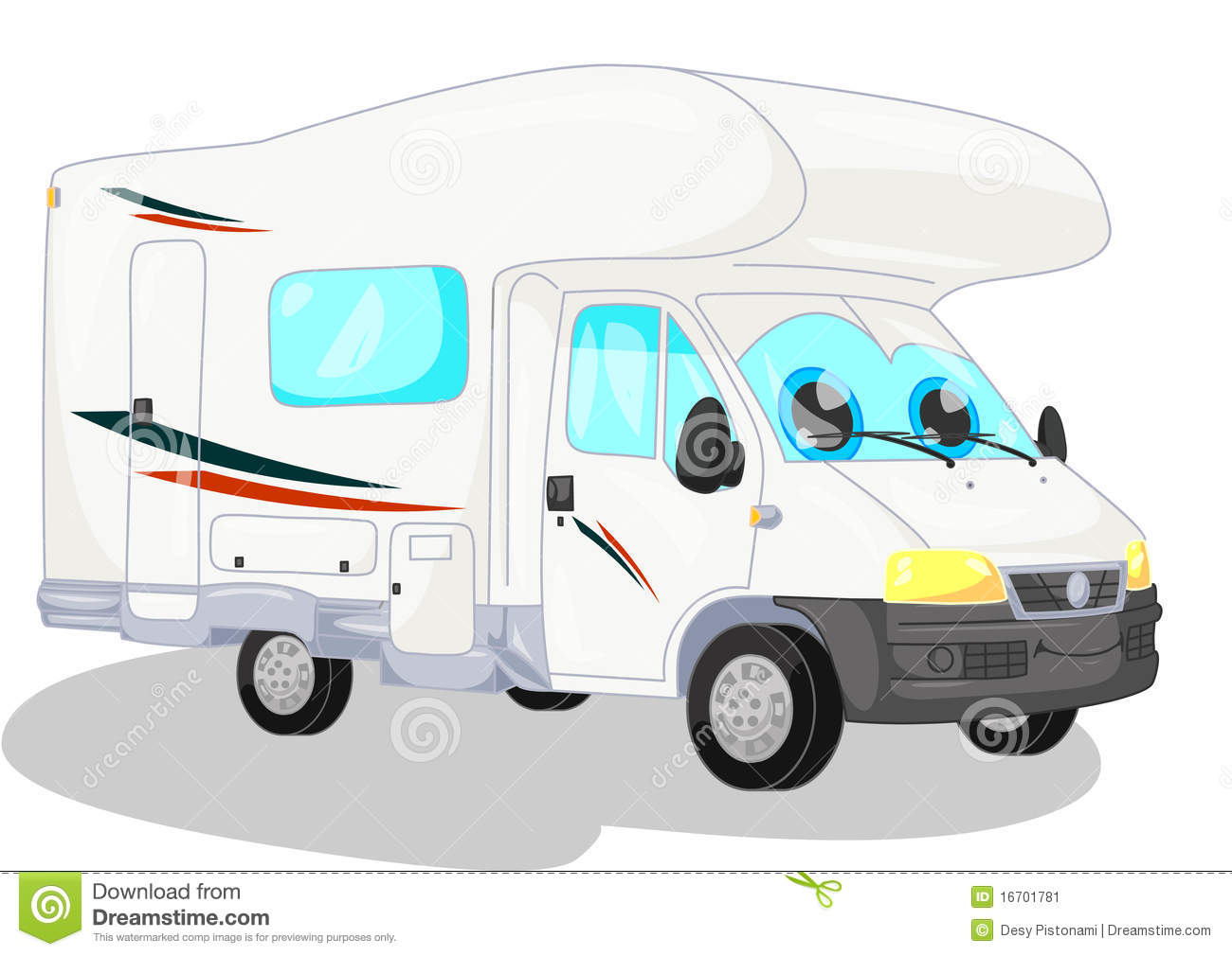 White camper stock vector. Illustration of road, freedom - 9