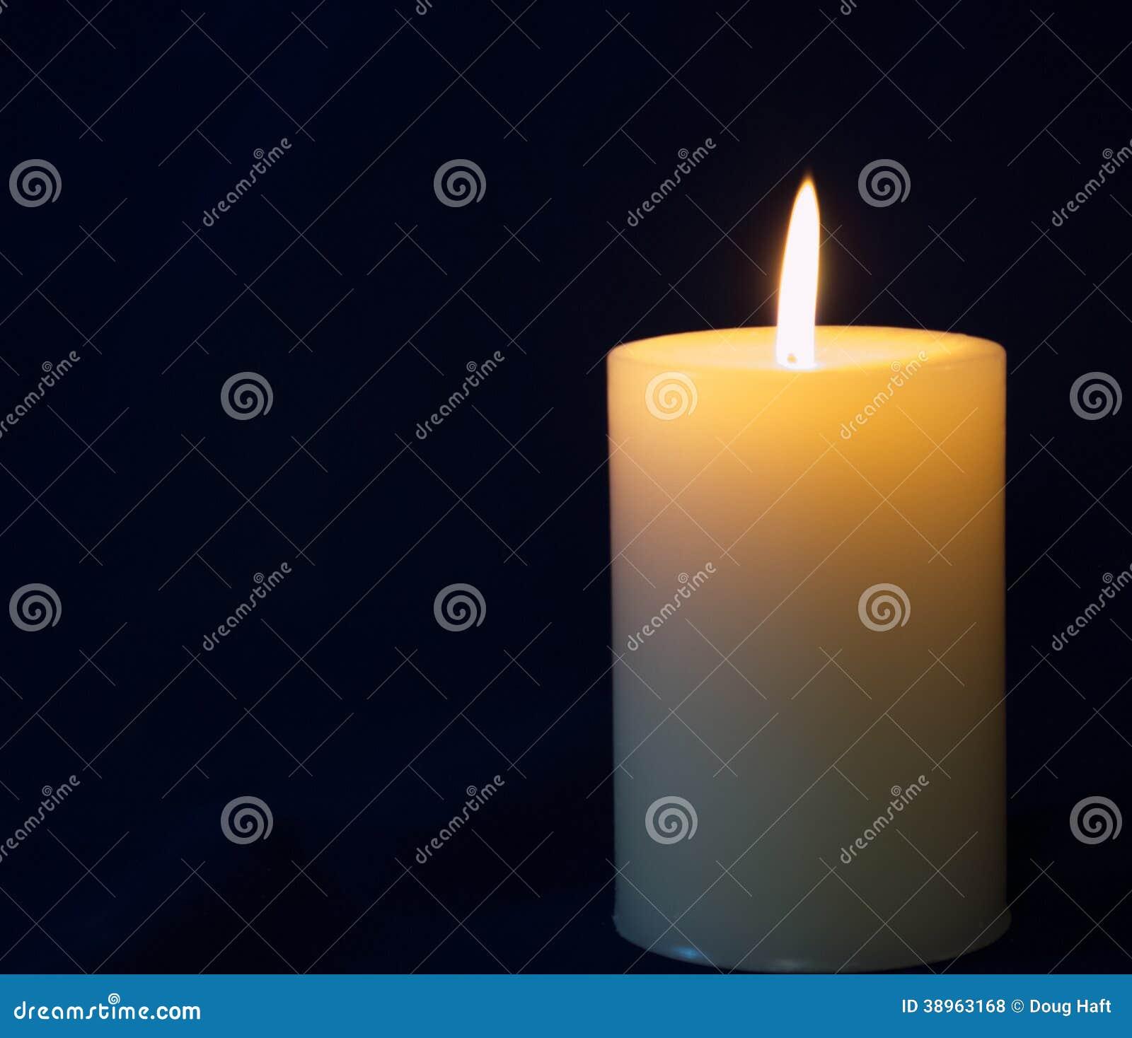 White Candle Stock Image