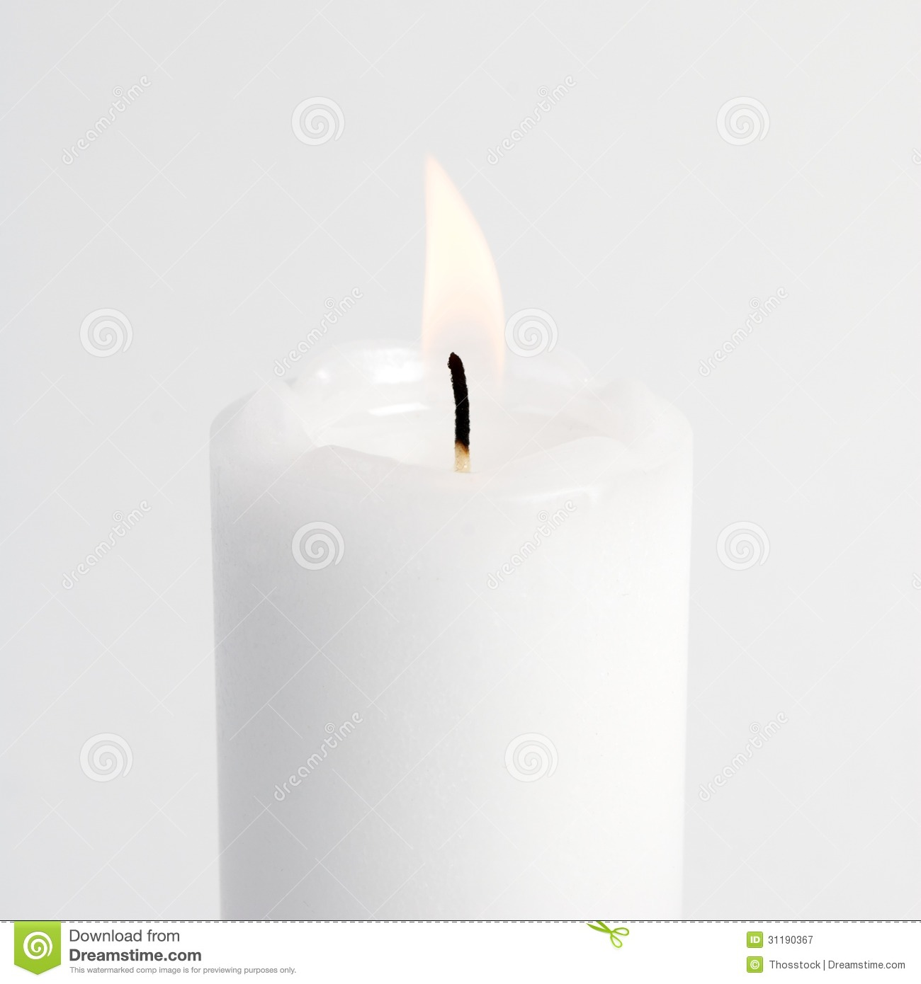 White Candle Burning Bright Royalty Free Stock Photography - Image ...