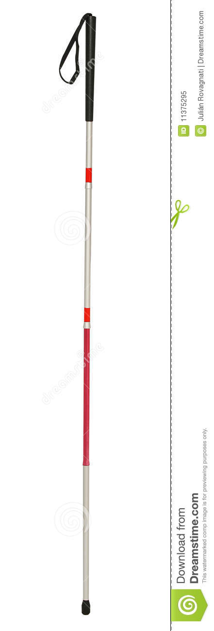 White cane, for blind persons