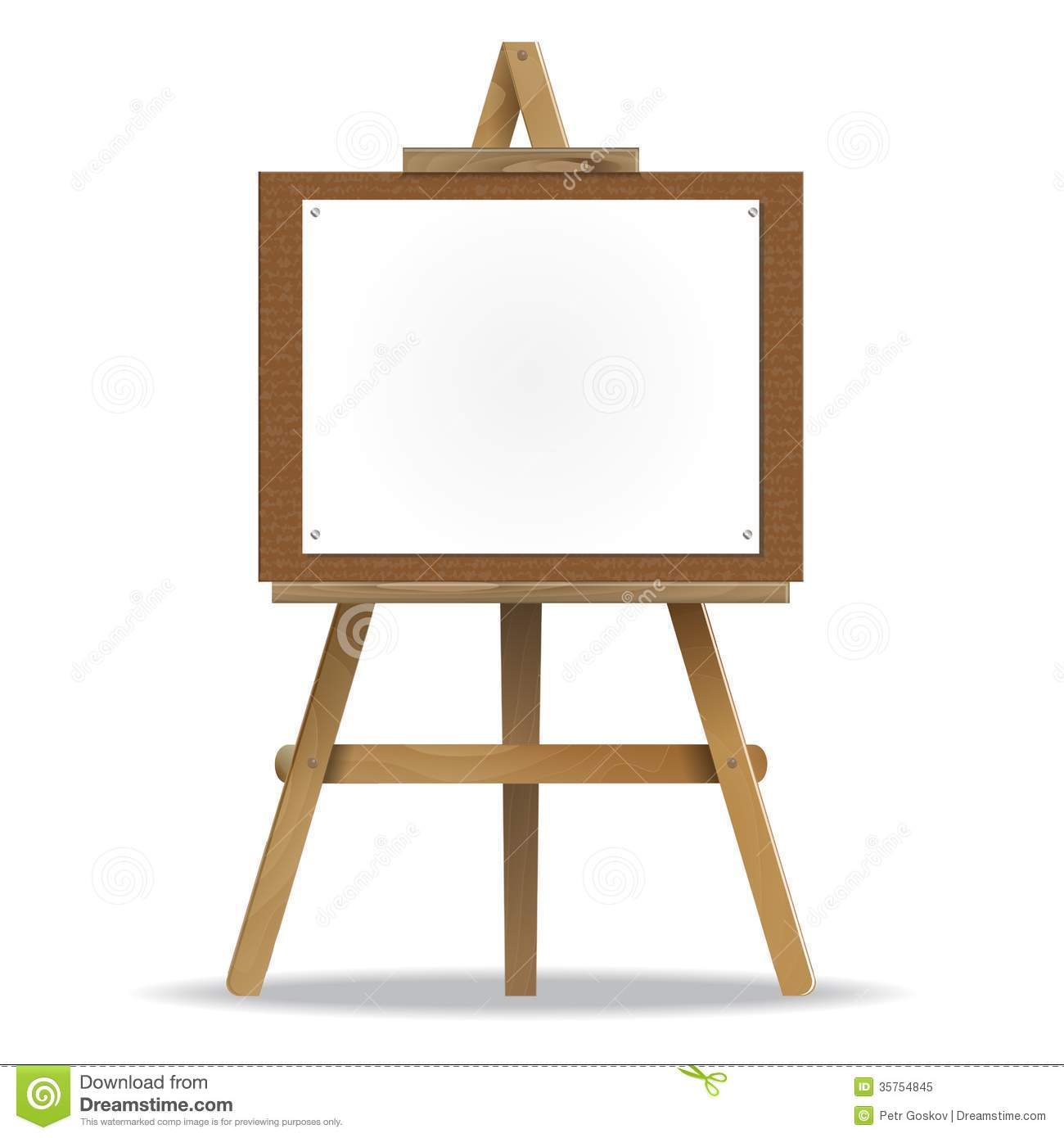 White canvas on an easel royalty free stock photo image for Un stand