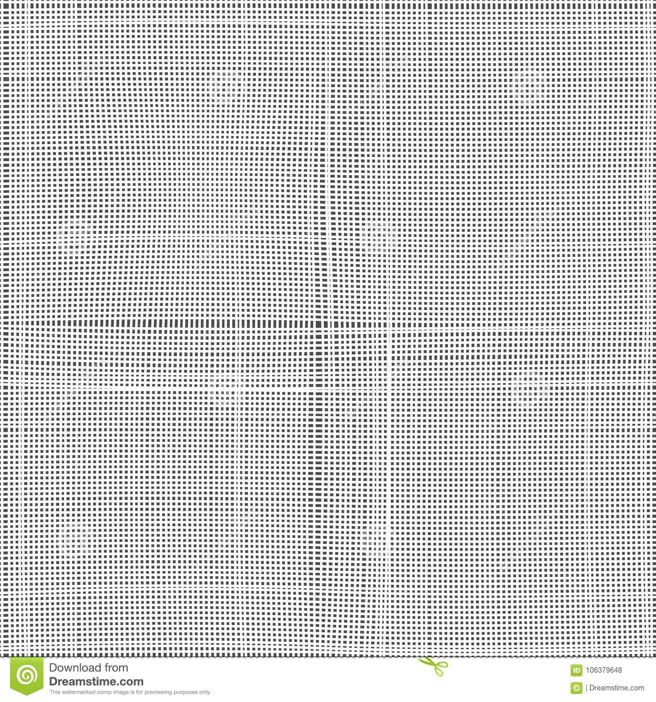 White Canvas To Use As Background, Texture, Mask Or Bump. Seamless Vector  Pattern. Light Gray Fabric Texture. Vector