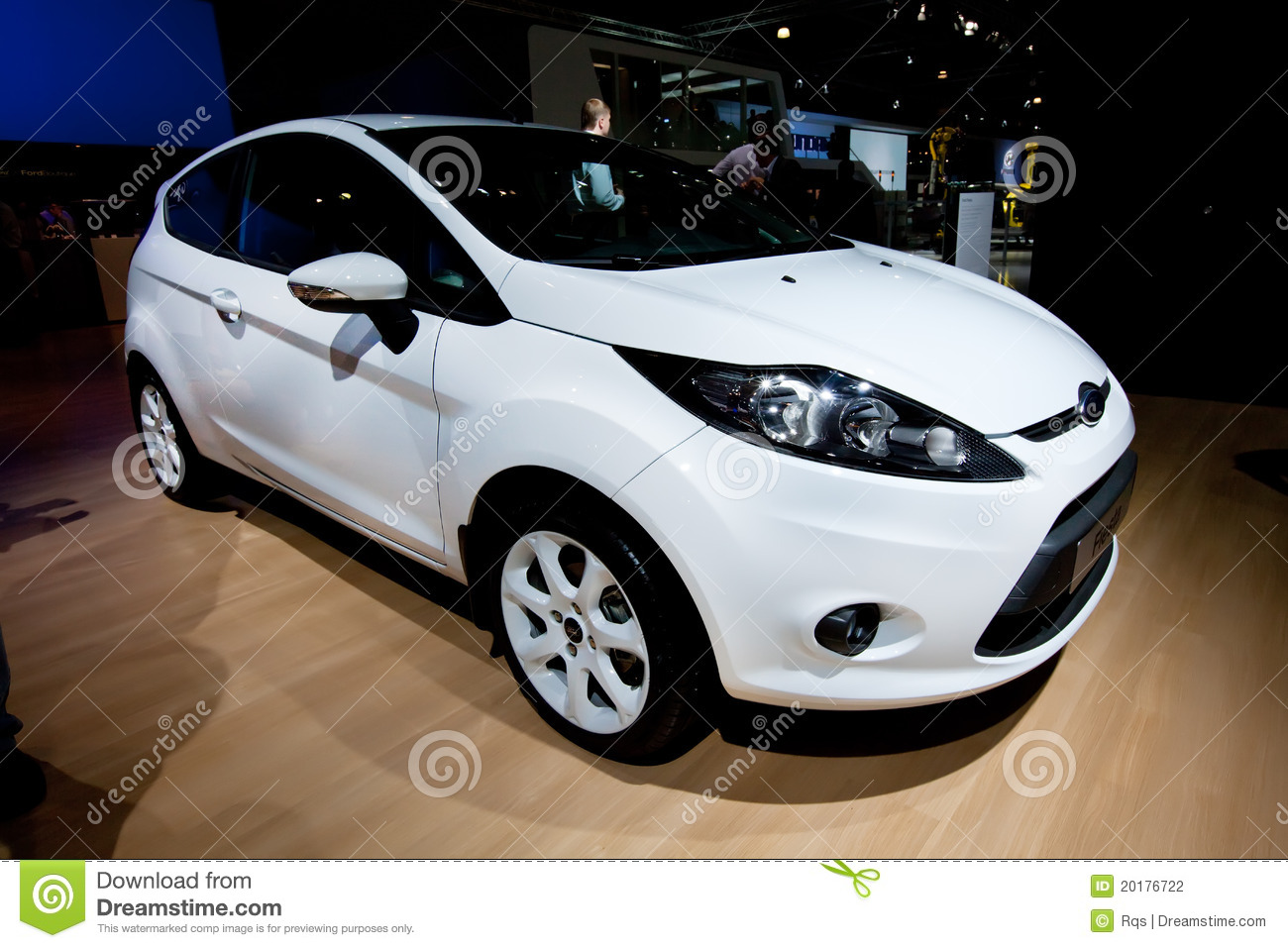 White Car Ford Fiesta Editorial Photography Image Of Cowl 20176722