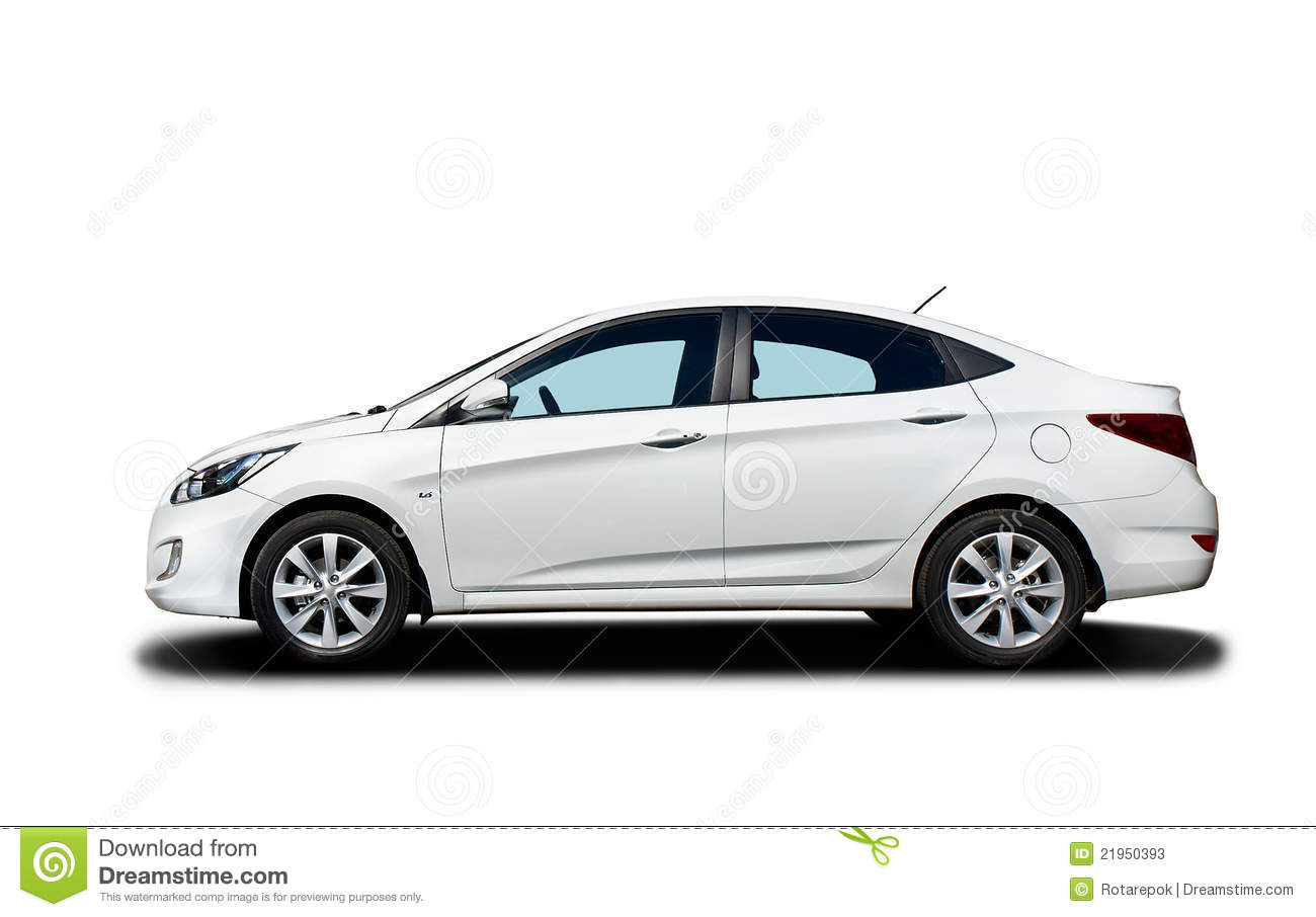 White Car Isolated On White Background Stock Image - Image ...