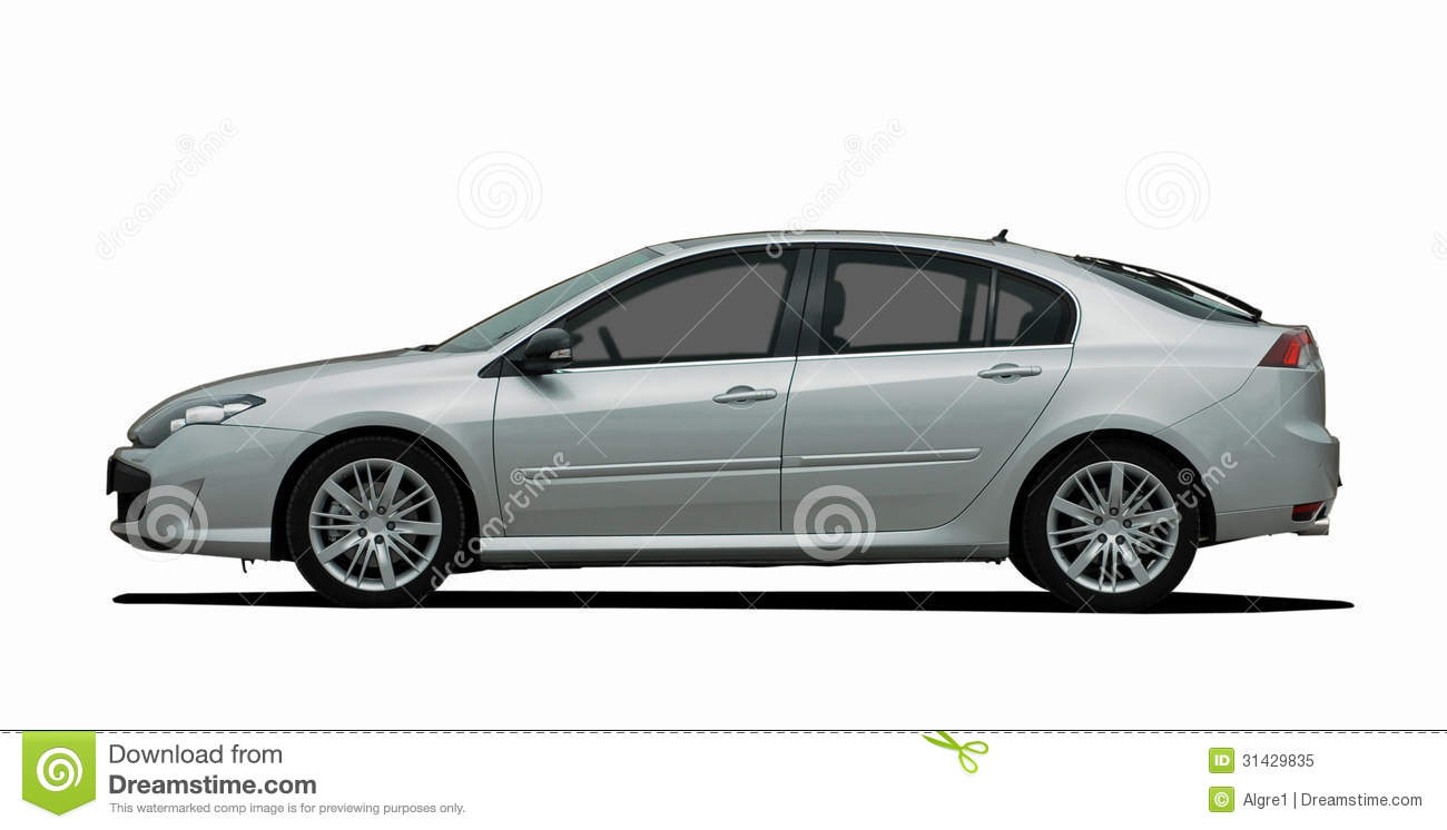 white car side view stock image image of metal