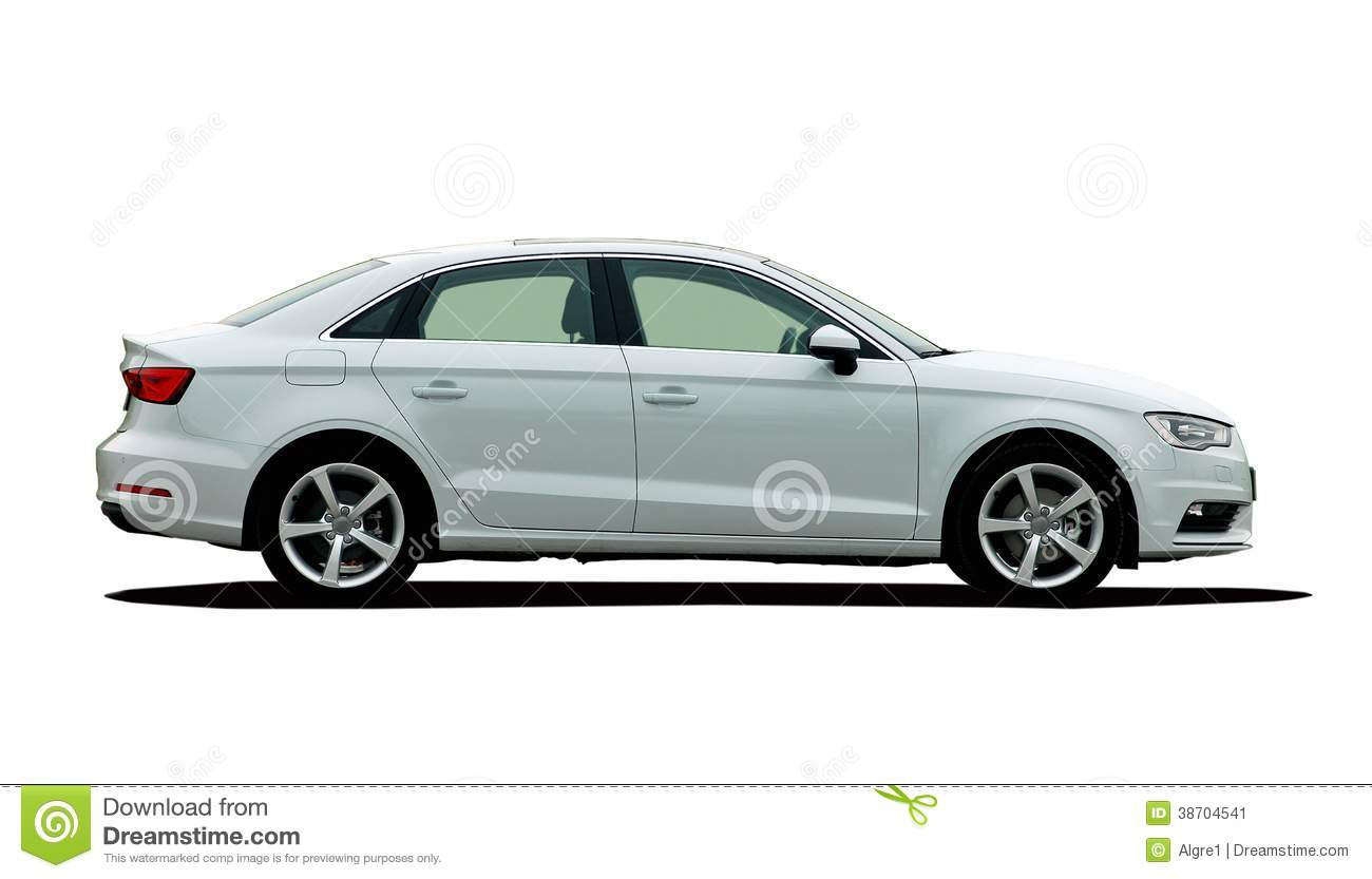 white car side view stock image image 38704541