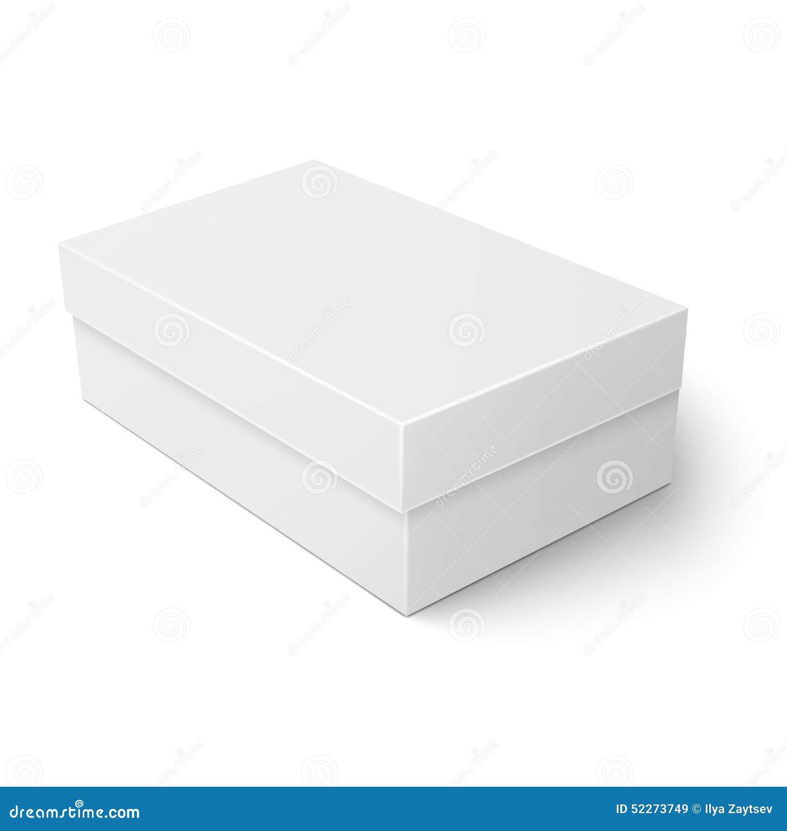 white cardboard shoebox template stock vector image 52273749. Black Bedroom Furniture Sets. Home Design Ideas