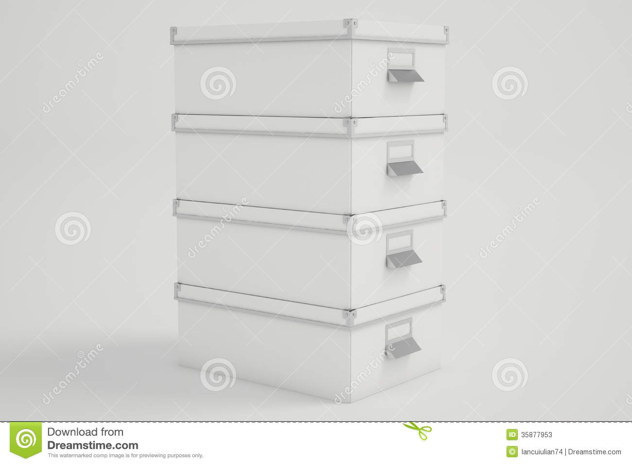 Royalty-Free Stock Photo. Download White Cardboard Storage Boxes ... & White Cardboard Storage Boxes Stock Illustration - Image: 35877953 Aboutintivar.Com
