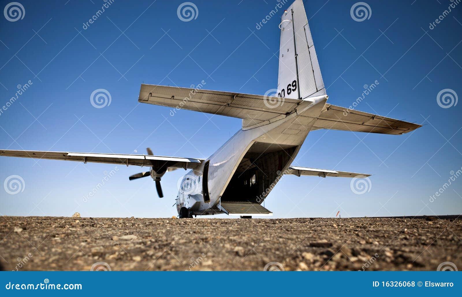 White Cargo Plane Royalty Free Stock Photos Image 16326068