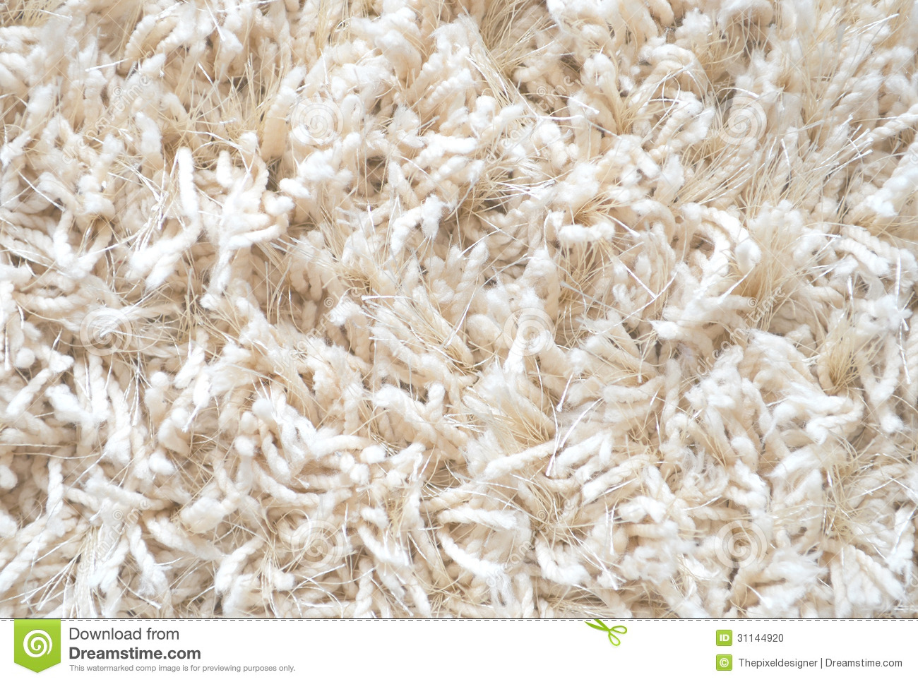 White Carpet. Fluffy textile texture. Clean Background. High