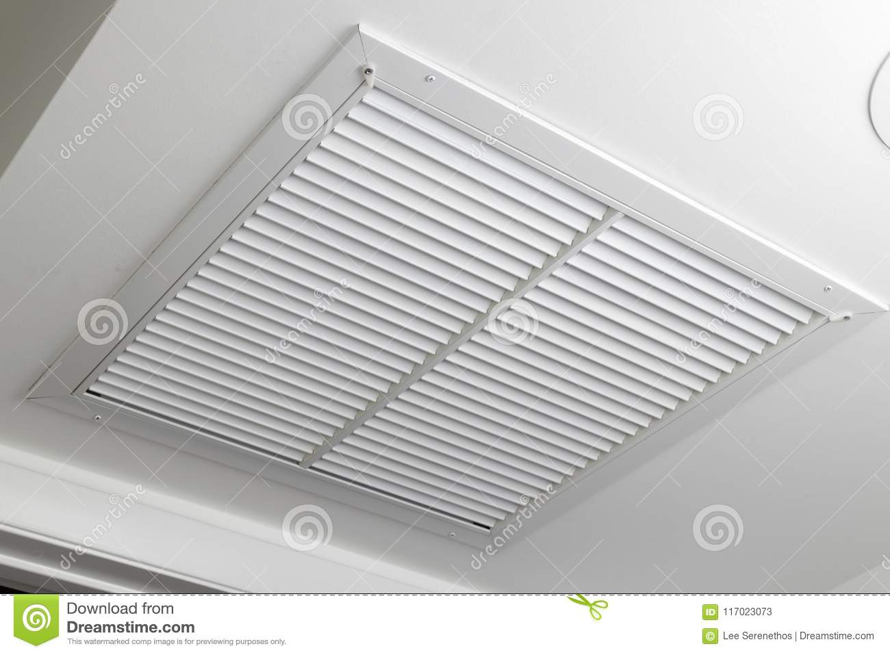 White Ceiling Air Filter Vent Grid Stock Image - Image of