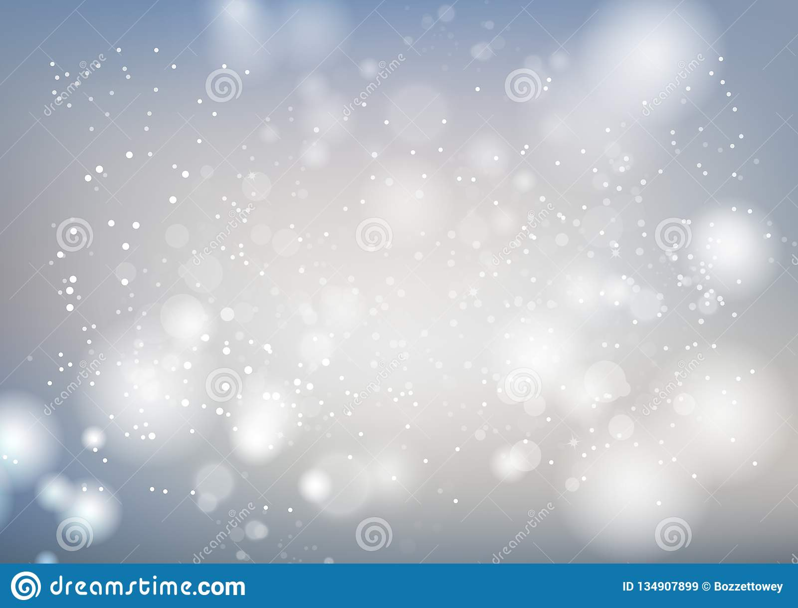 White, celebration abstract background, silver stars sparkle blur motion luxury vector illustration, seasonal holiday