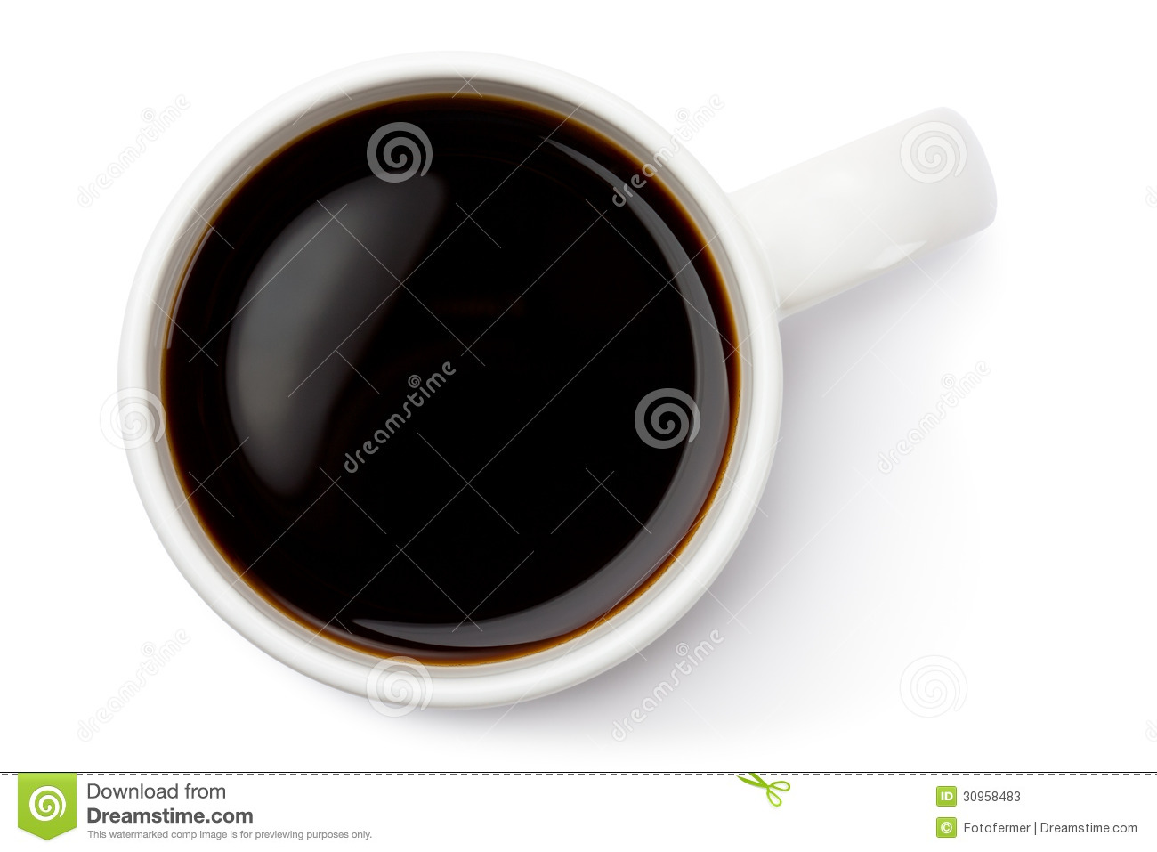 Coffee Mug With Coffee Top View