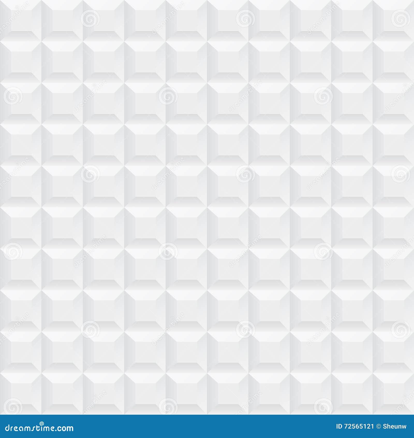 White Ceramic Cubes Texture Seamless Stock Vector