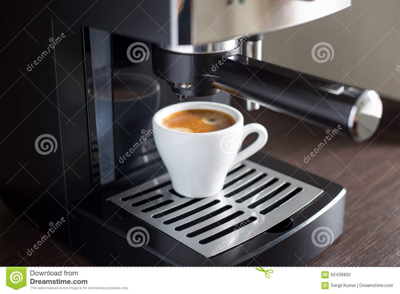 espresso machine and cup of coffee stock photography 23022764. Black Bedroom Furniture Sets. Home Design Ideas
