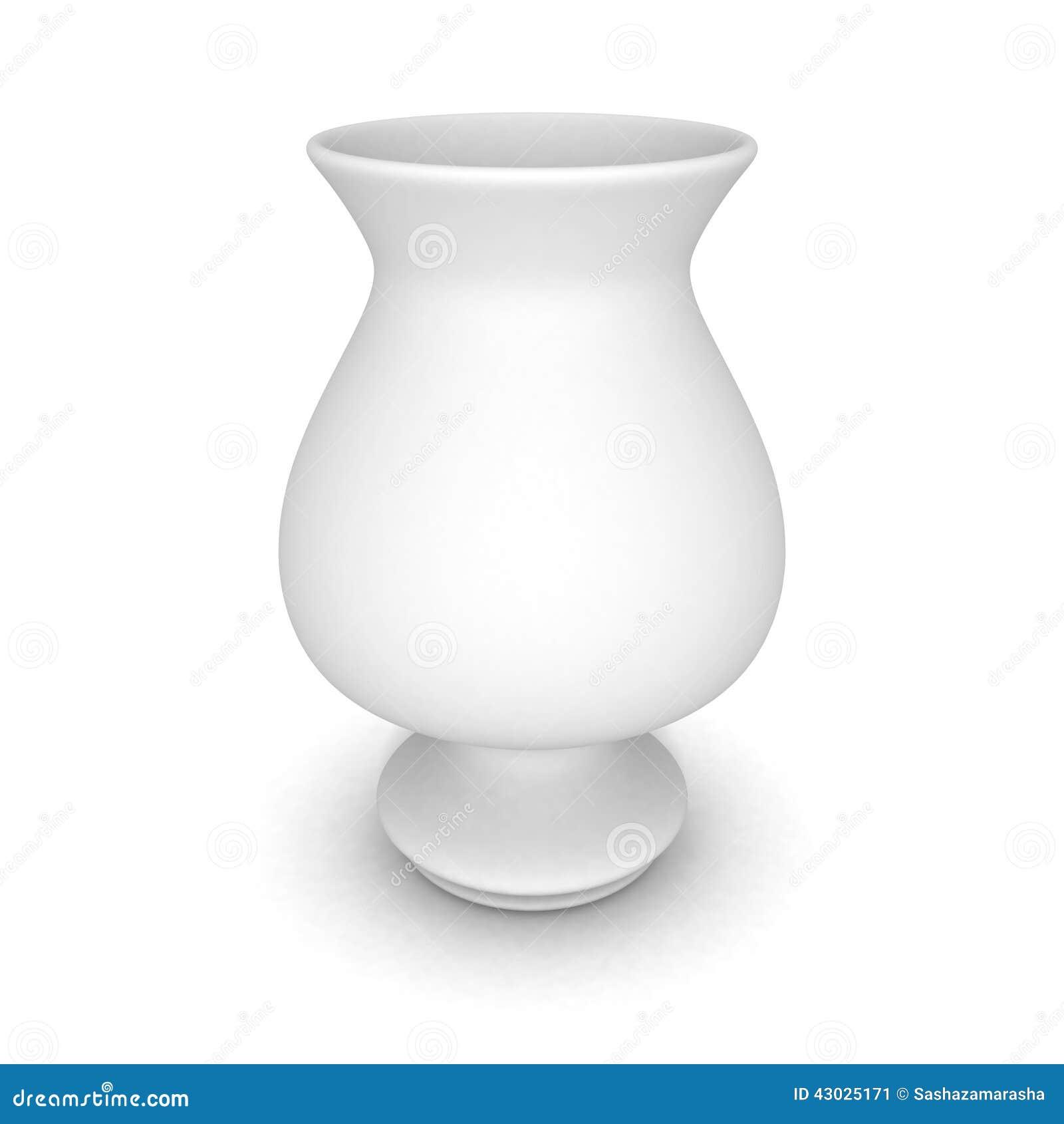 White Ceramic Modern Vase With Shadow Stock Illustration