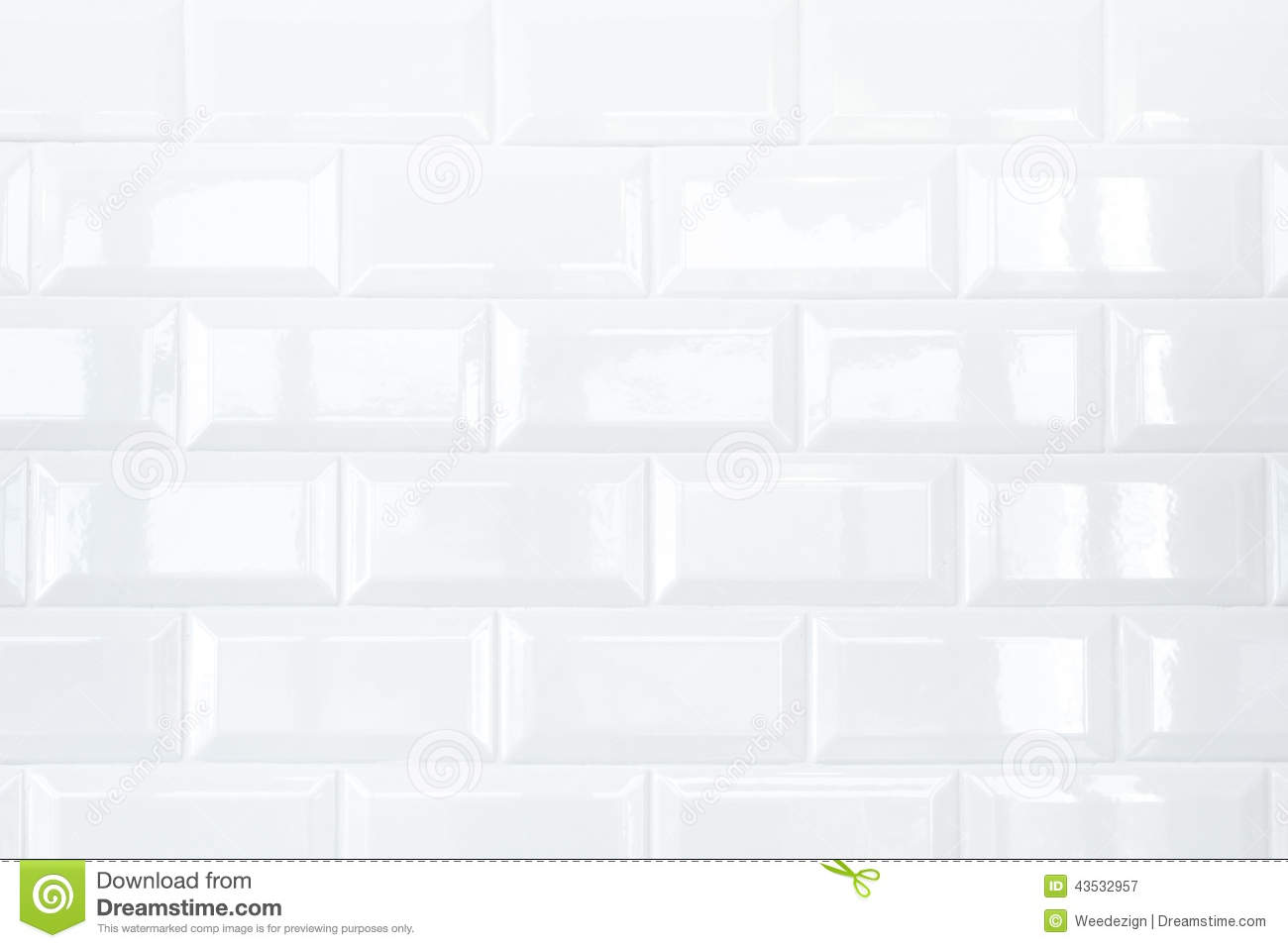 White Ceramic Tile Brick Wall Stock Image Image Of