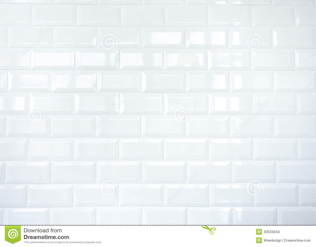 White Ceramic Tile Brick Wall Stock Photo Image 43533044