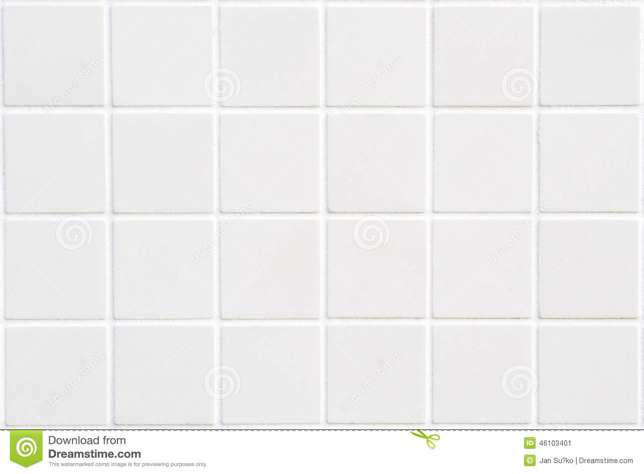 White Ceramic Tile With 24 Squares Stock Photo Image 46103401