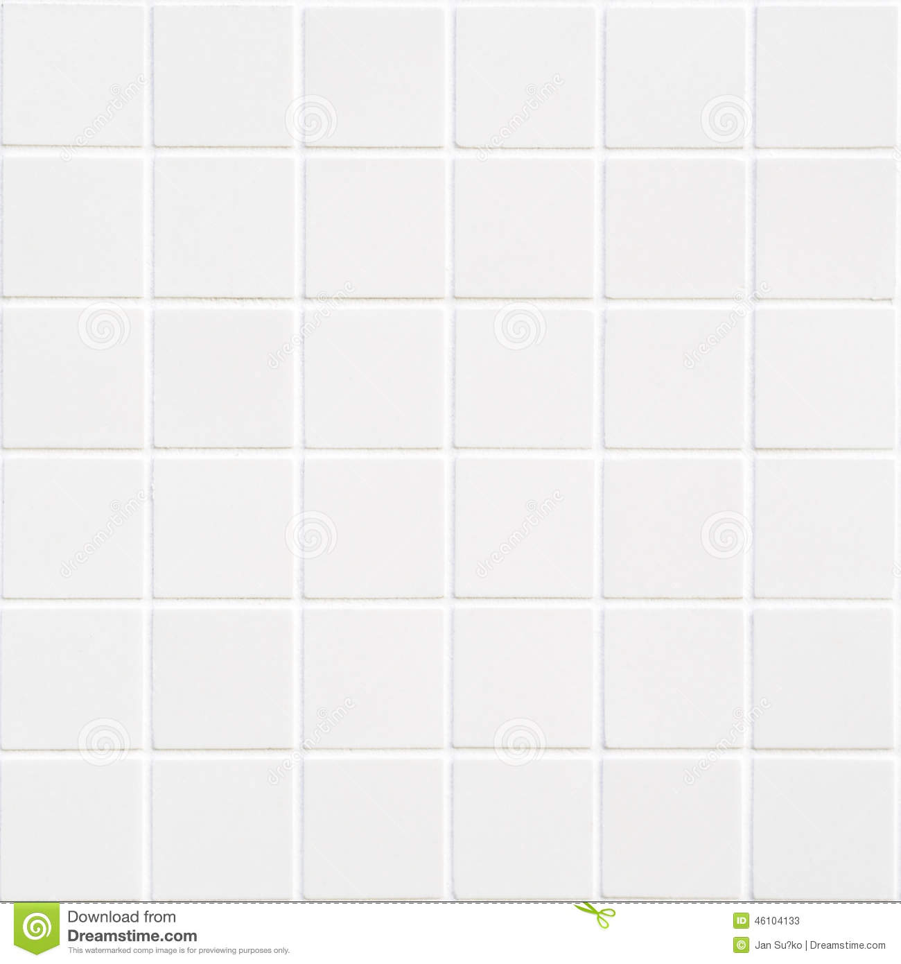 White ceramic tile with 36 squares in square form stock for Europe carrelage