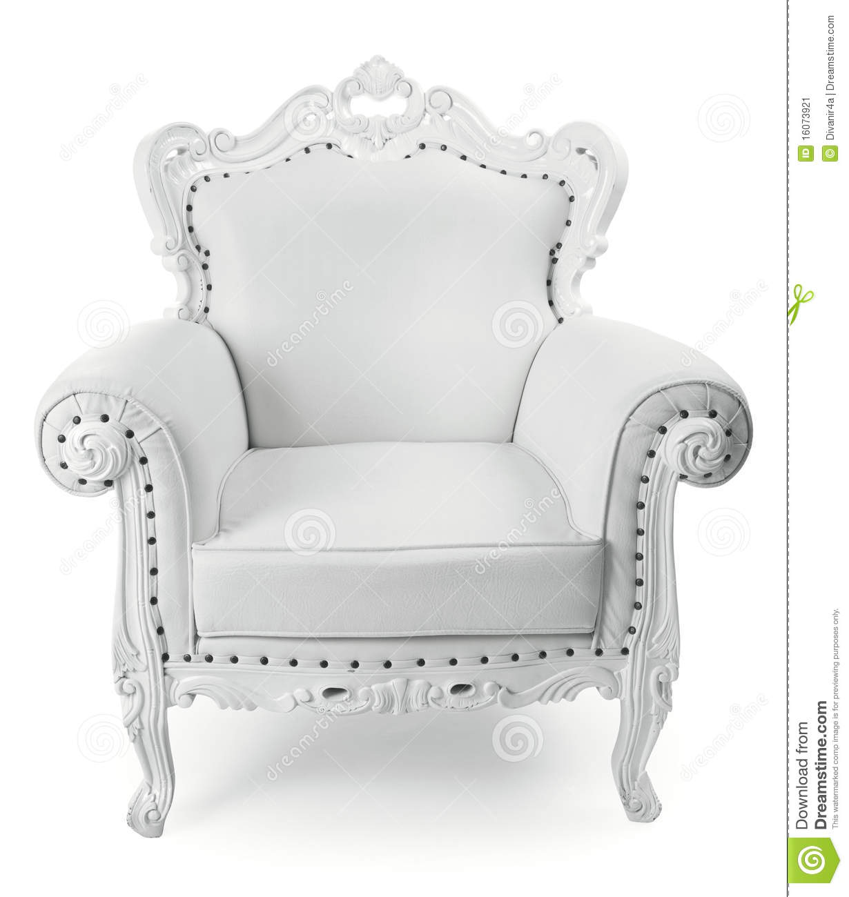 white chair stock image image 16073921. Black Bedroom Furniture Sets. Home Design Ideas