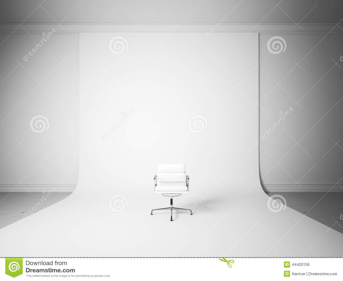 Black and white chair photography - White Chair On The White Studio Background