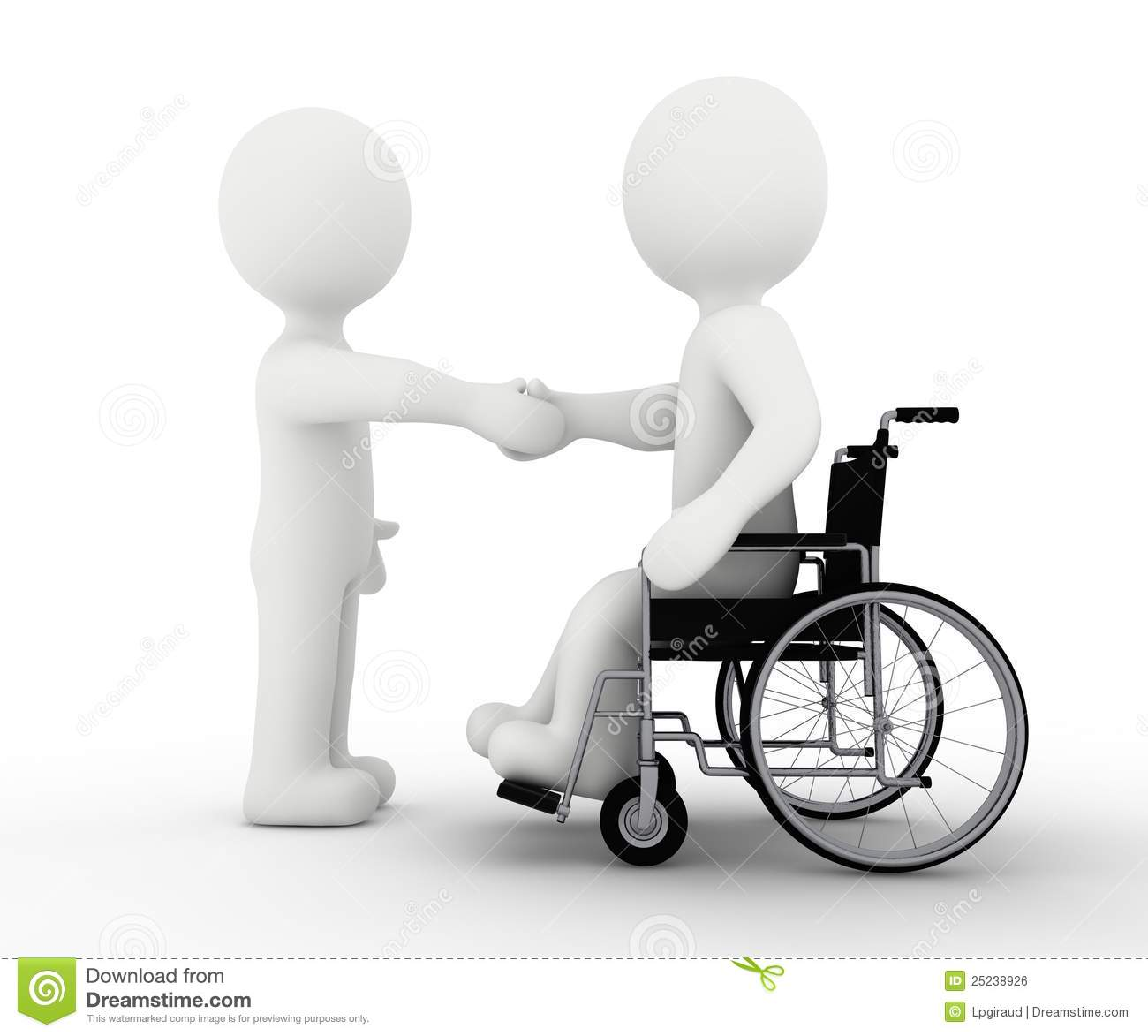 White Character And Handicap Royalty Free Stock Image