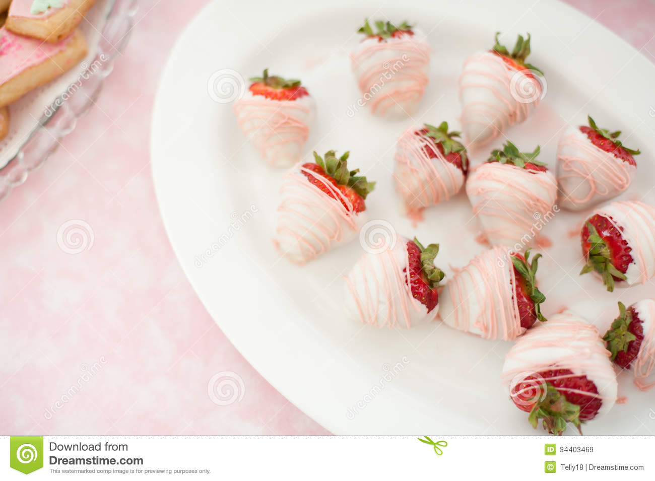 White Chocolate Covered Strawberries Royalty Free Stock Images ...