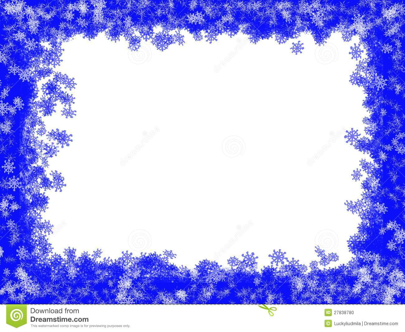 white christmas background with blue frame stock photo