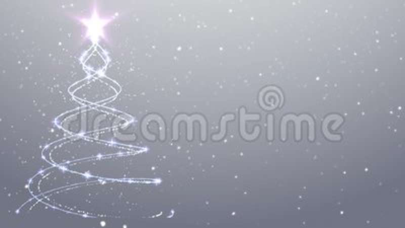 White Christmas Snow Background.White Christmas Background Snow Falling Christmas Tree