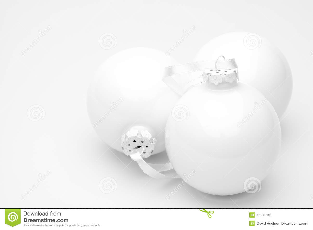 white christmas baubles stock image image 10870931